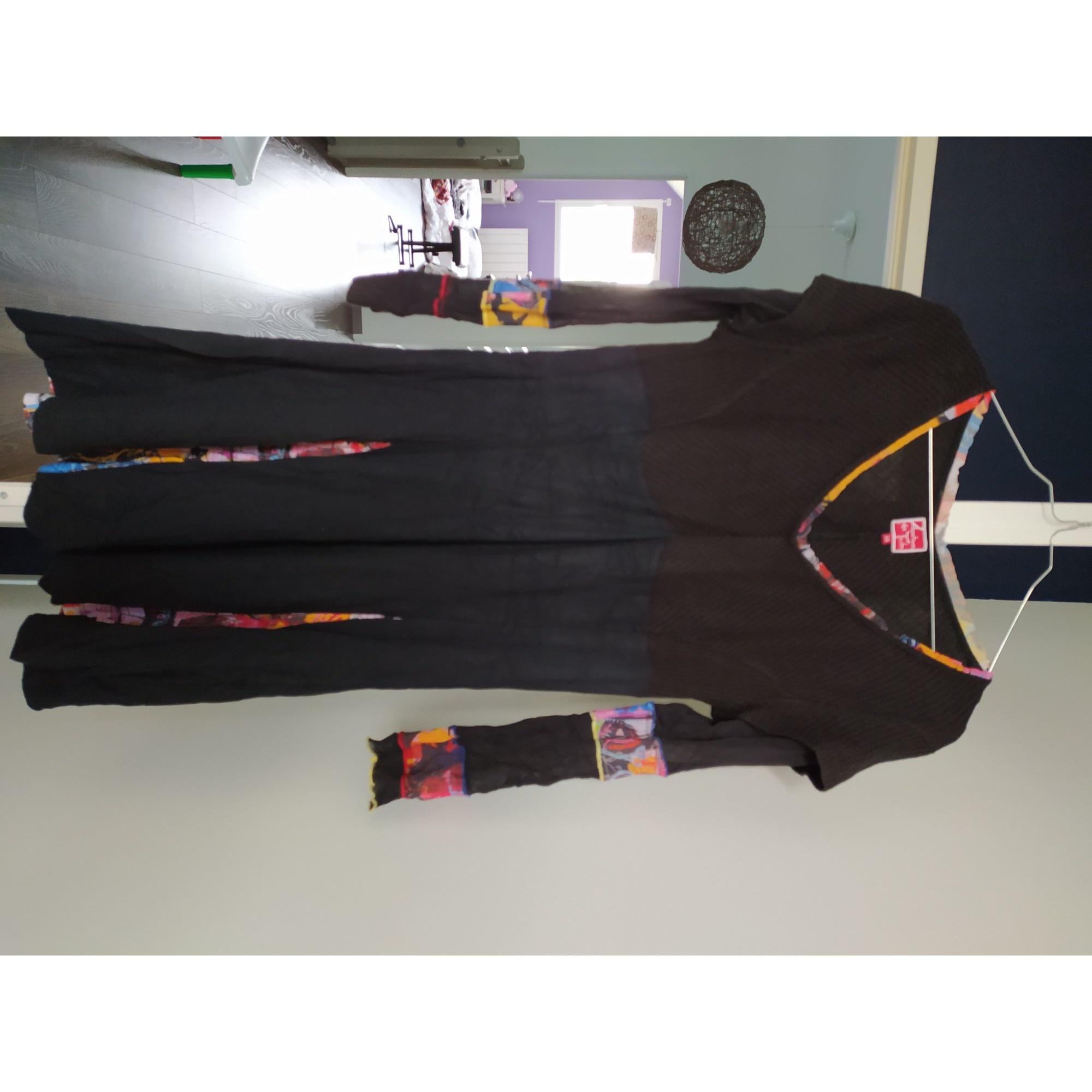 Robe mi-longue AVENTURES DES TOILES Noir