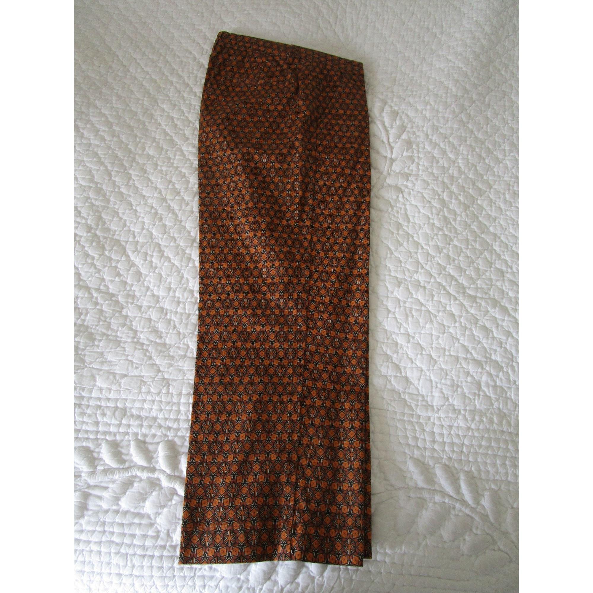 Pantalon évasé MKT STUDIO Doré, bronze, cuivre