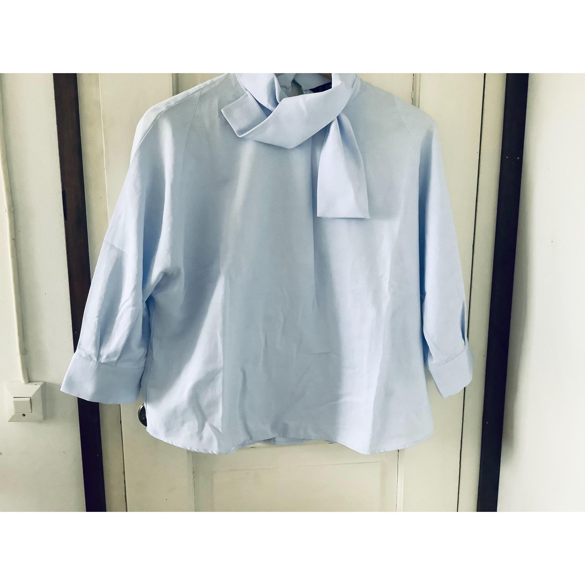 Blouse ZARA Bleu, bleu marine, bleu turquoise