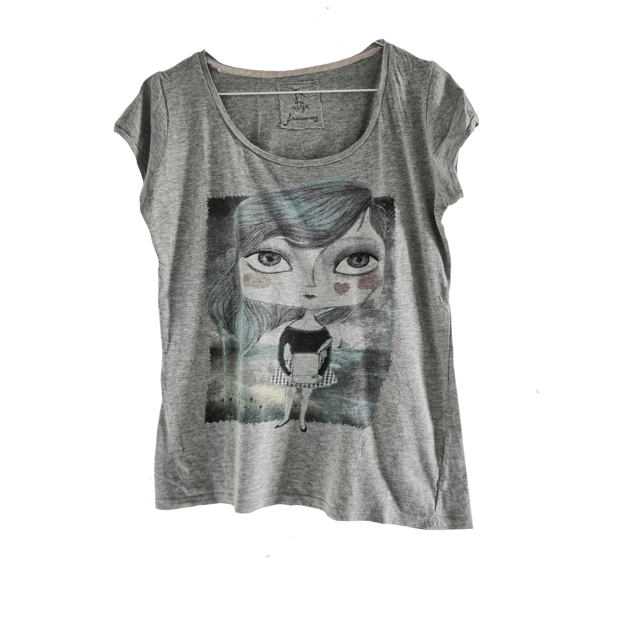 Top, tee-shirt STRADIVARIUS Gris, anthracite
