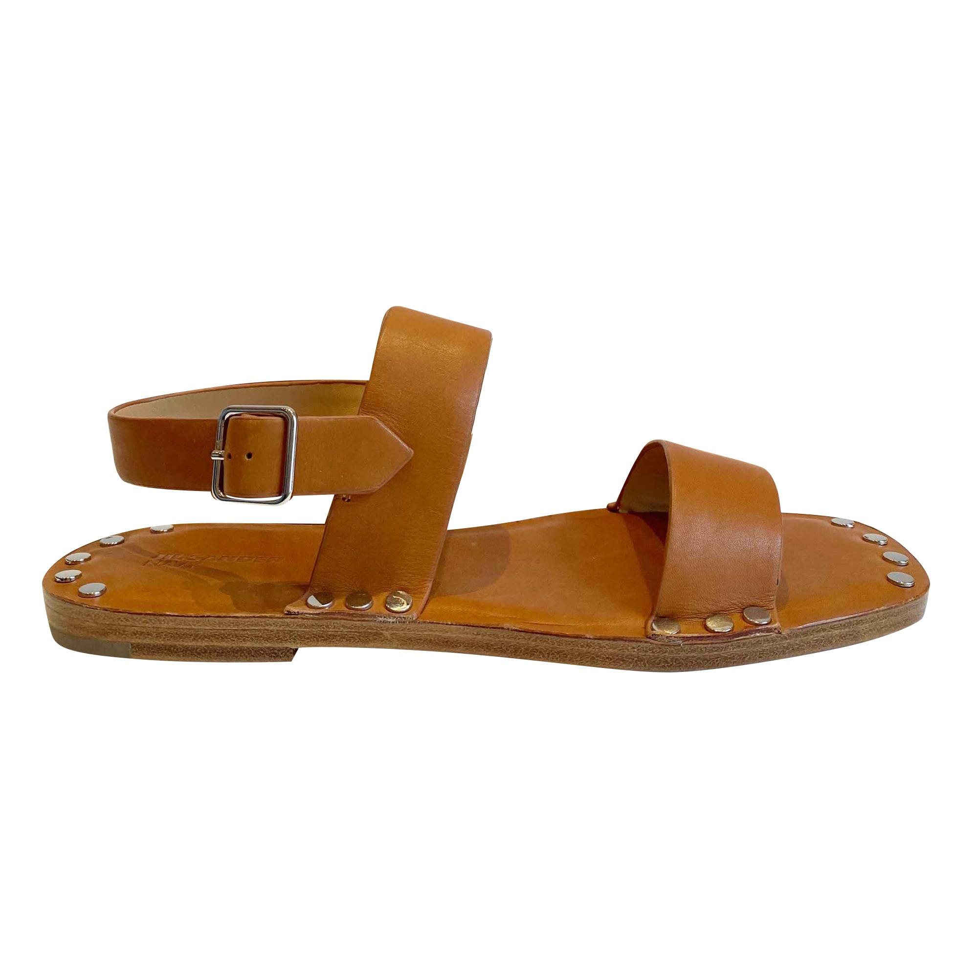 Sandales plates  JIL SANDER Marron
