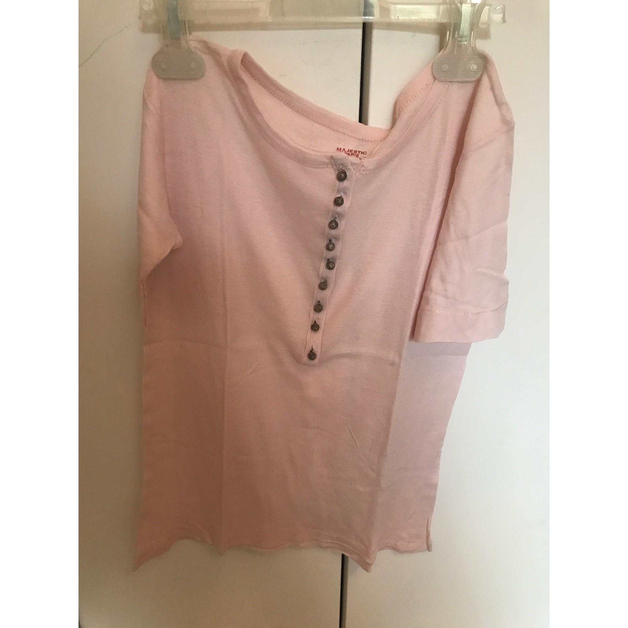 Top, tee-shirt MAJESTIC Rose, fuschia, vieux rose