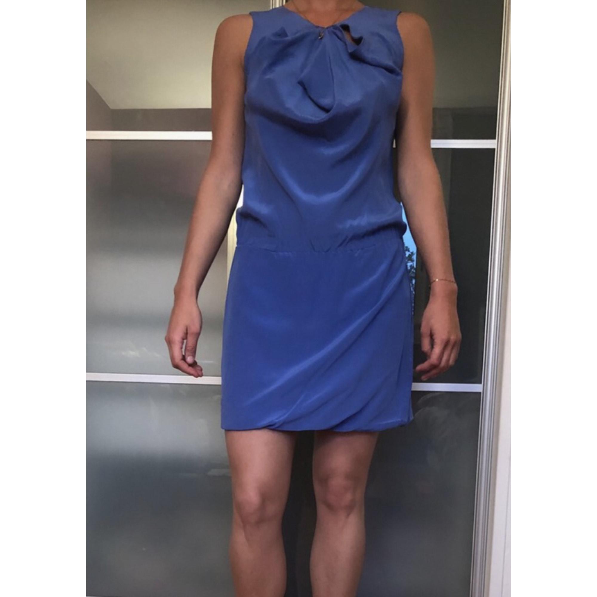 Robe courte MAJE Bleu, bleu marine, bleu turquoise