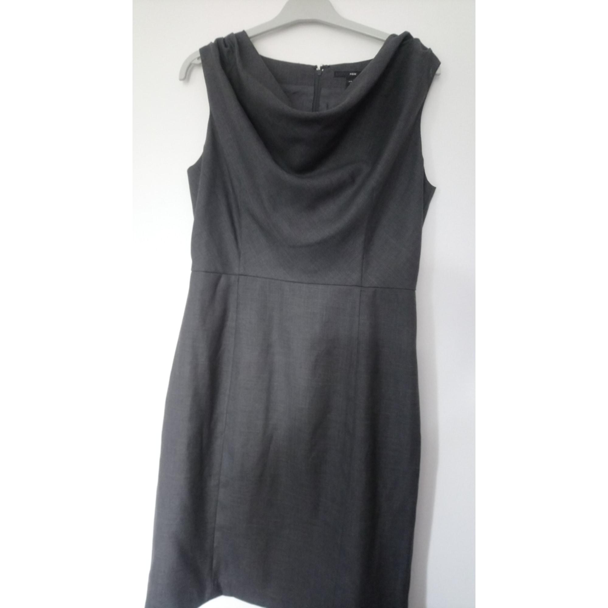 Robe mi-longue H&M Gris, anthracite