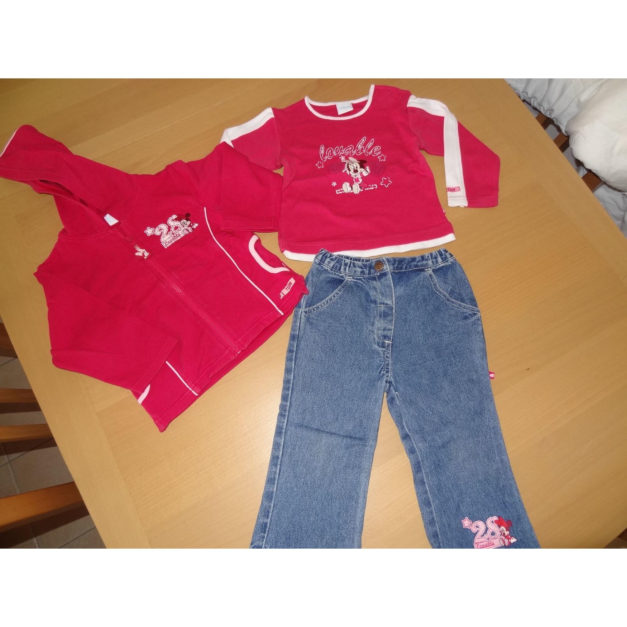 Ensemble & Combinaison pantalon DISNEY Rouge, bordeaux