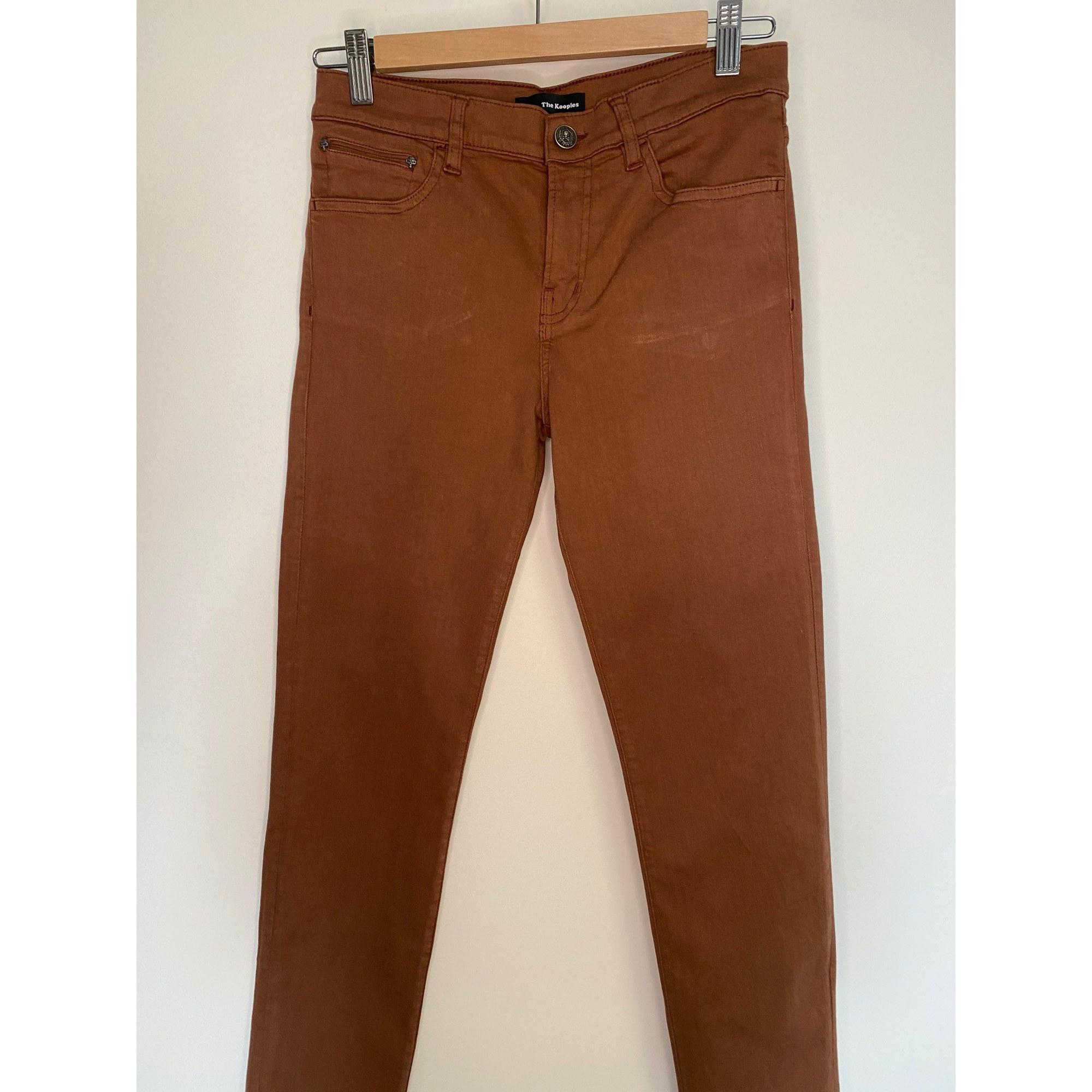 Pantalon slim, cigarette THE KOOPLES Beige, camel