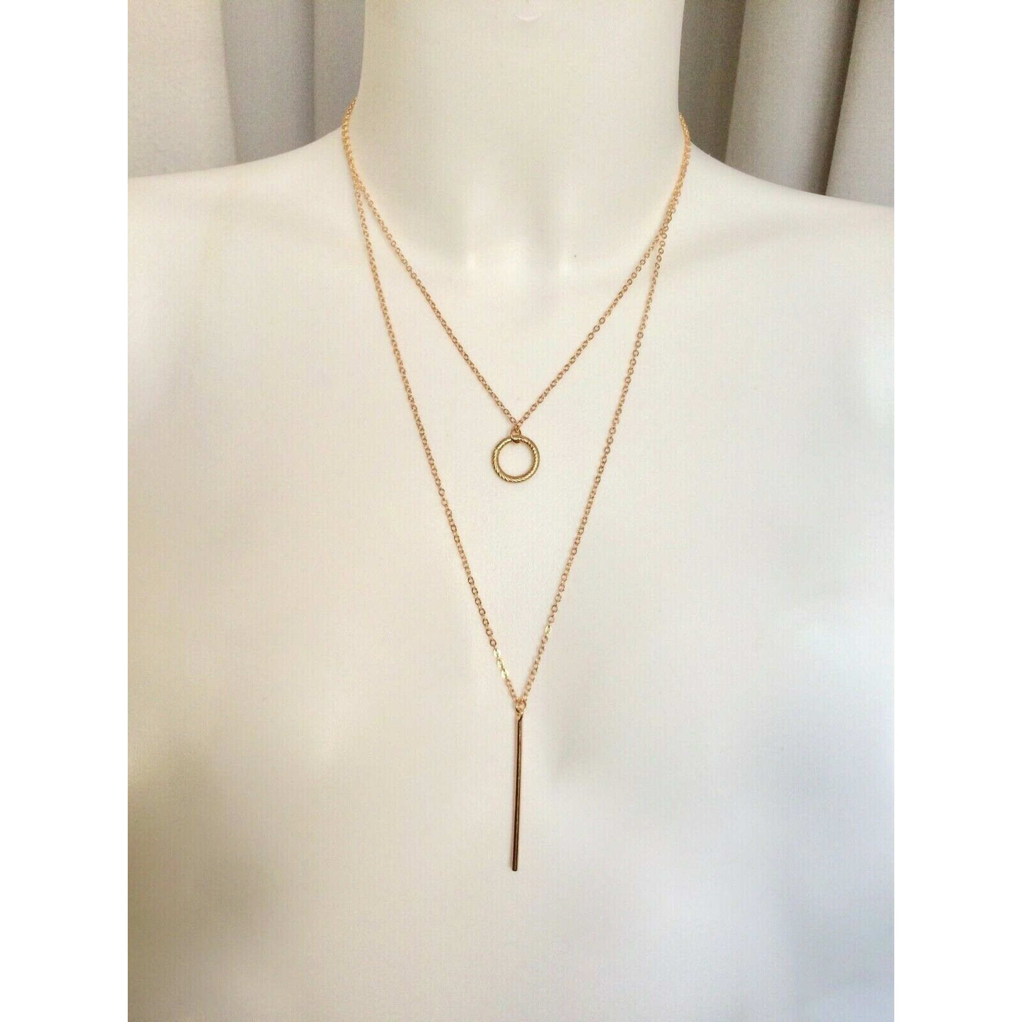 Pendentif, collier pendentif FASHION JEWELRY Doré, bronze, cuivre