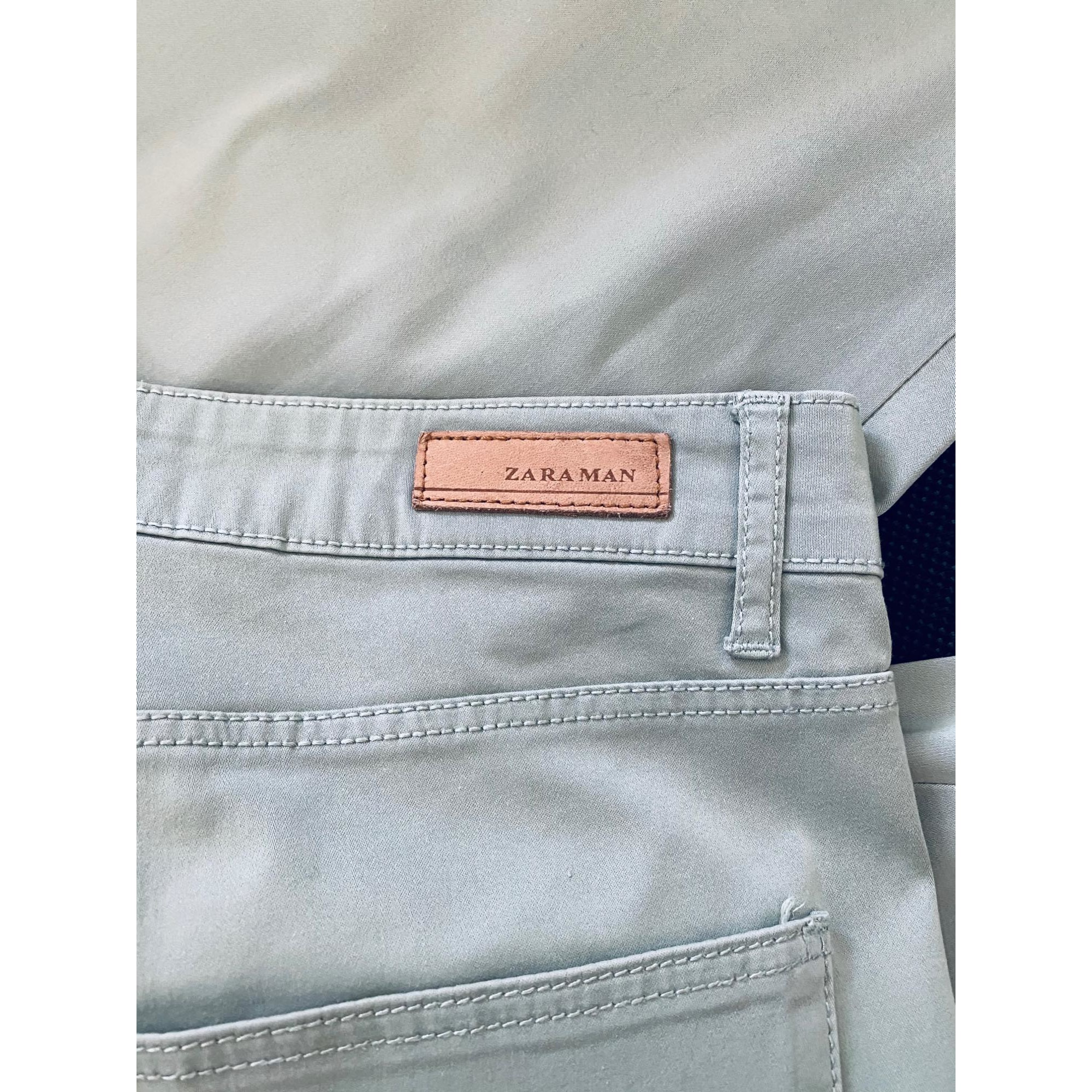 Pantalon droit ZARA Vert