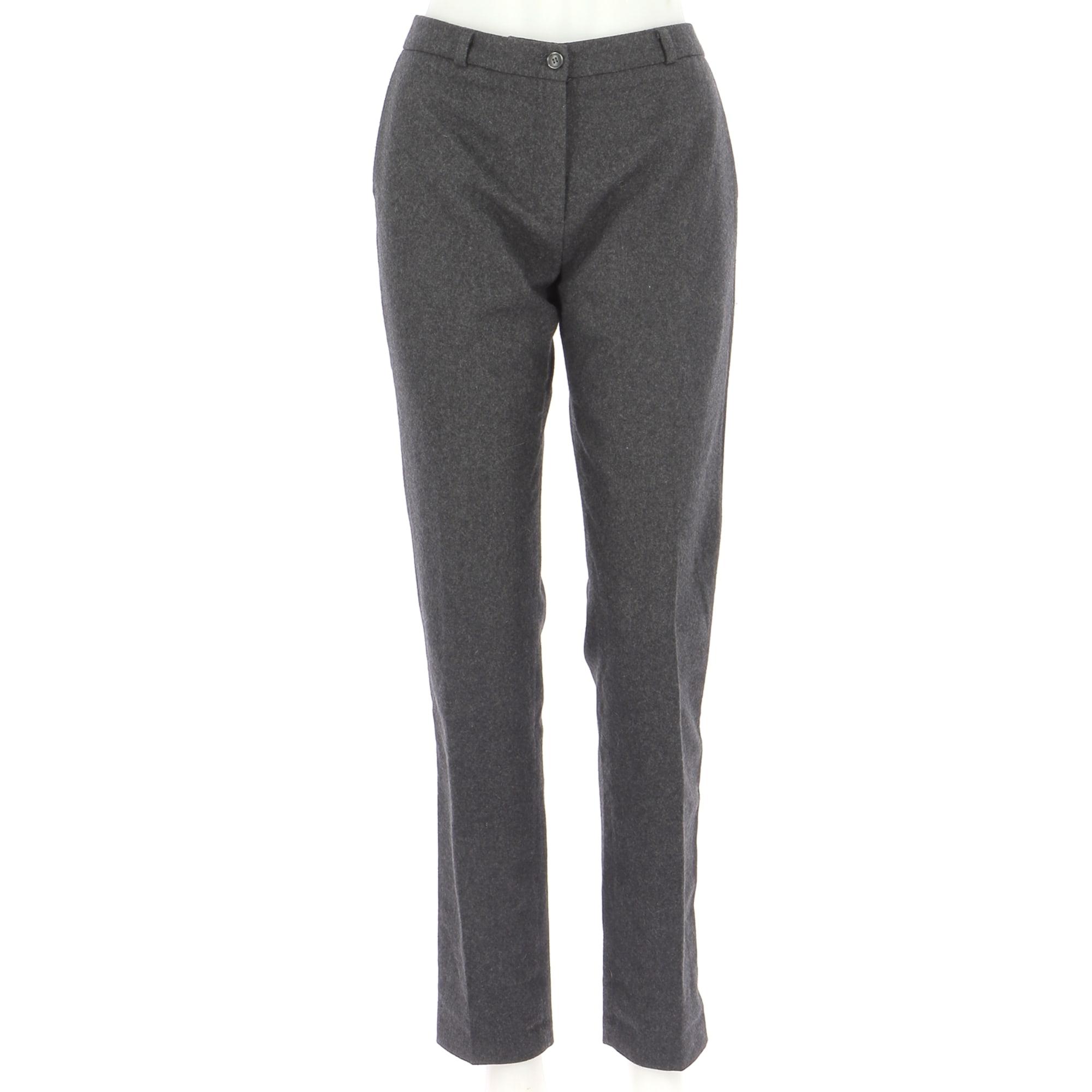 Pantalon droit AMERICAN VINTAGE Gris, anthracite