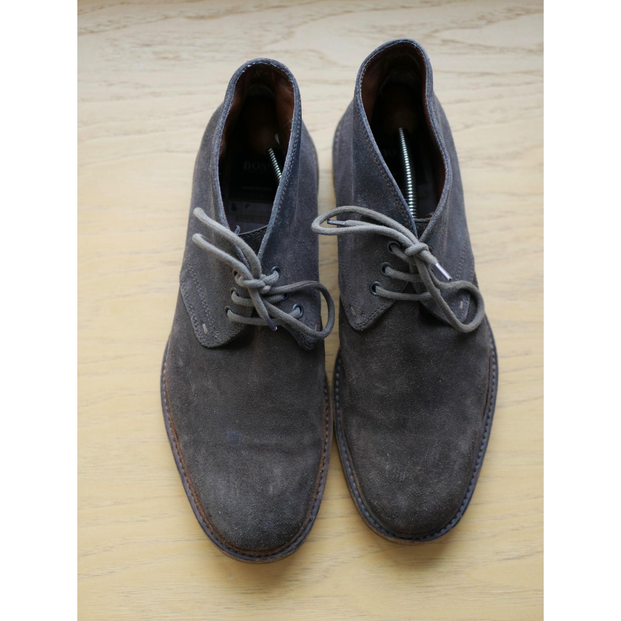 Chaussures à lacets HUGO BOSS Marron