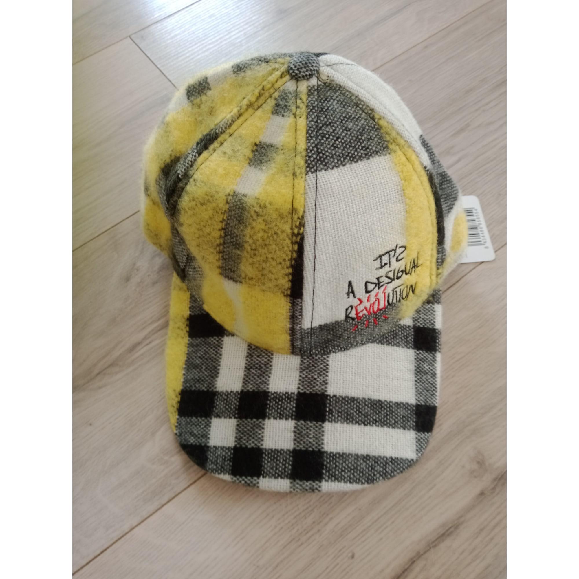 Casquette DESIGUAL jaune, blanc et noir