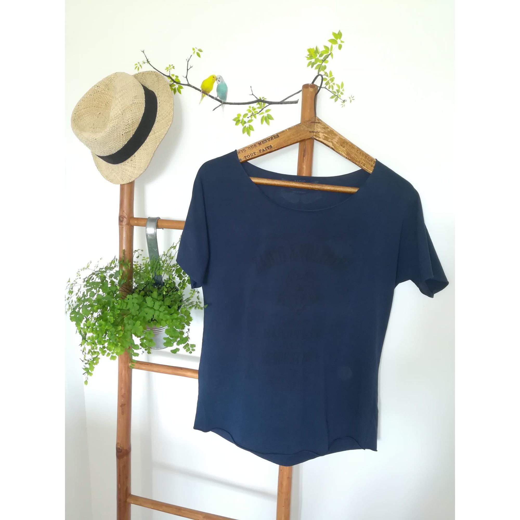Tee-shirt ZADIG & VOLTAIRE Bleu, bleu marine, bleu turquoise