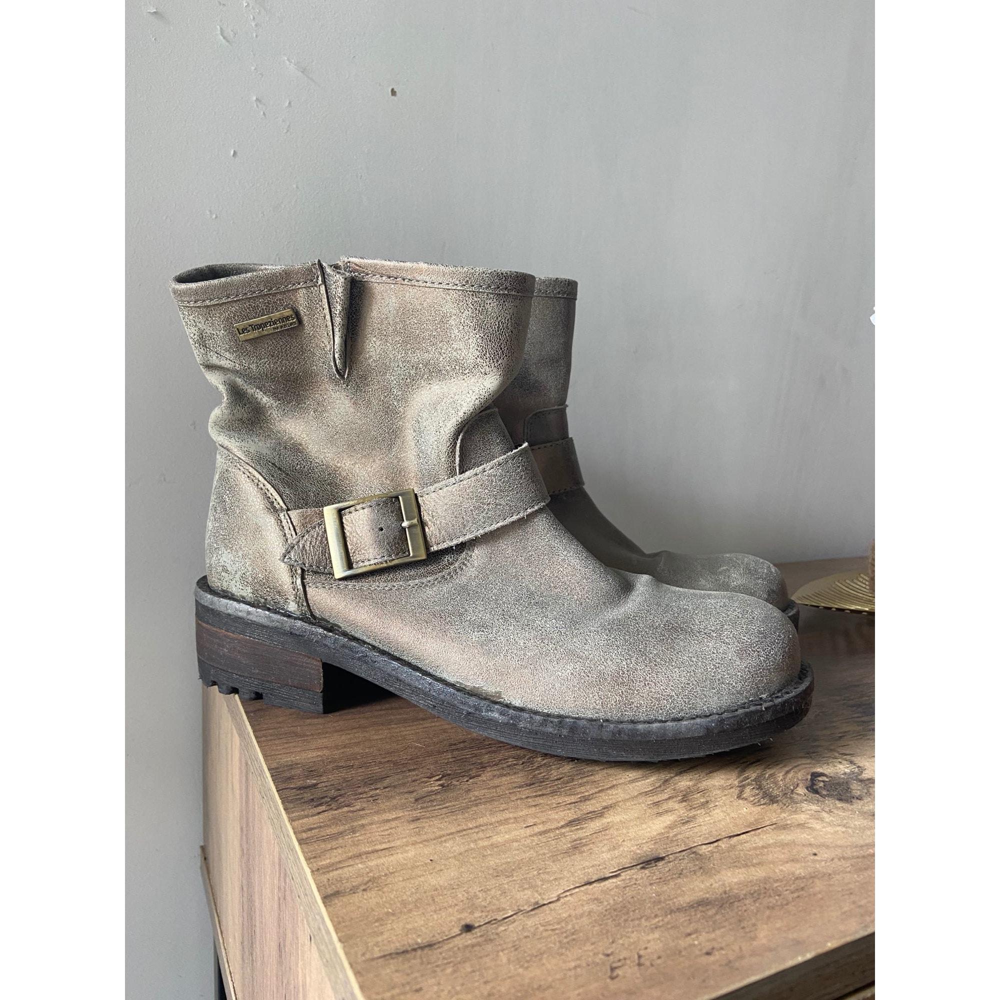 Bottines & low boots plates LES TROPÉZIENNES PAR M. BELARBI Gris, anthracite