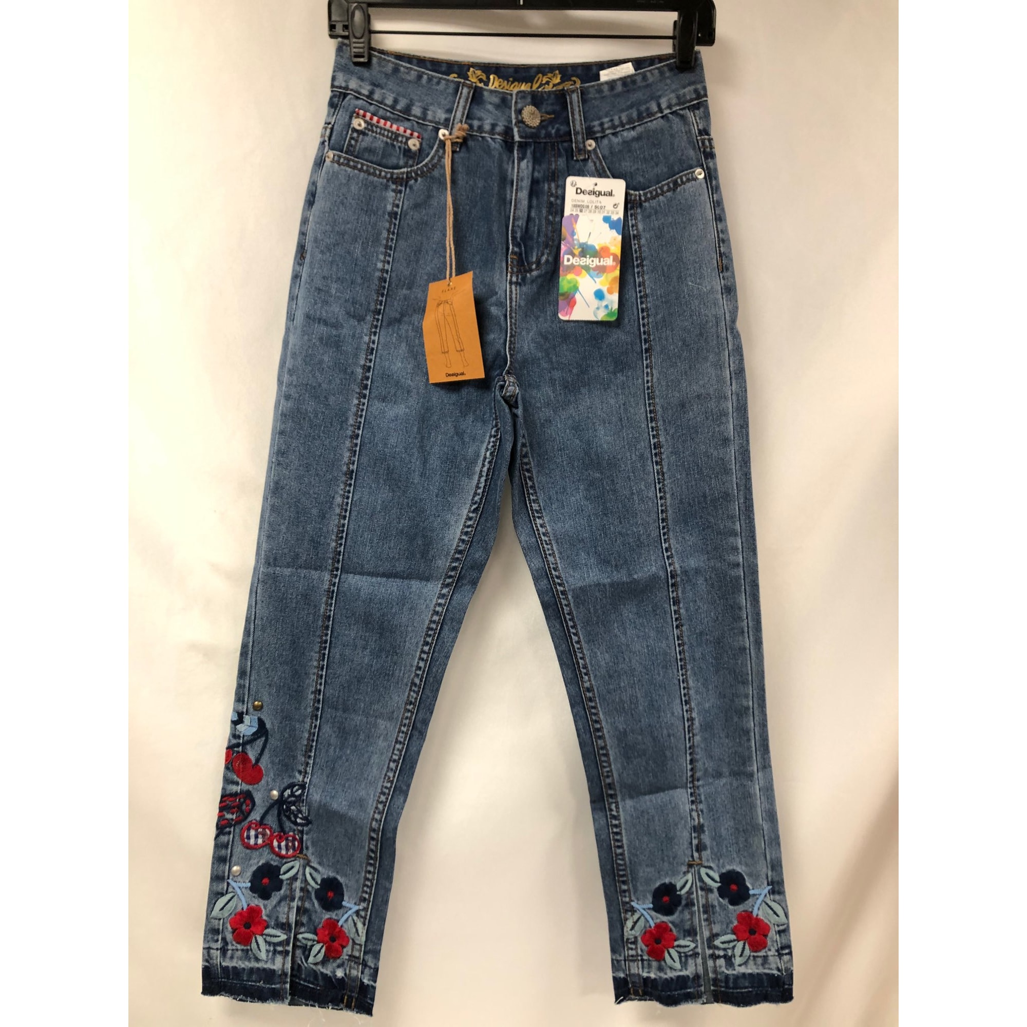 Jeans évasé, boot-cut DESIGUAL Bleu, bleu marine, bleu turquoise