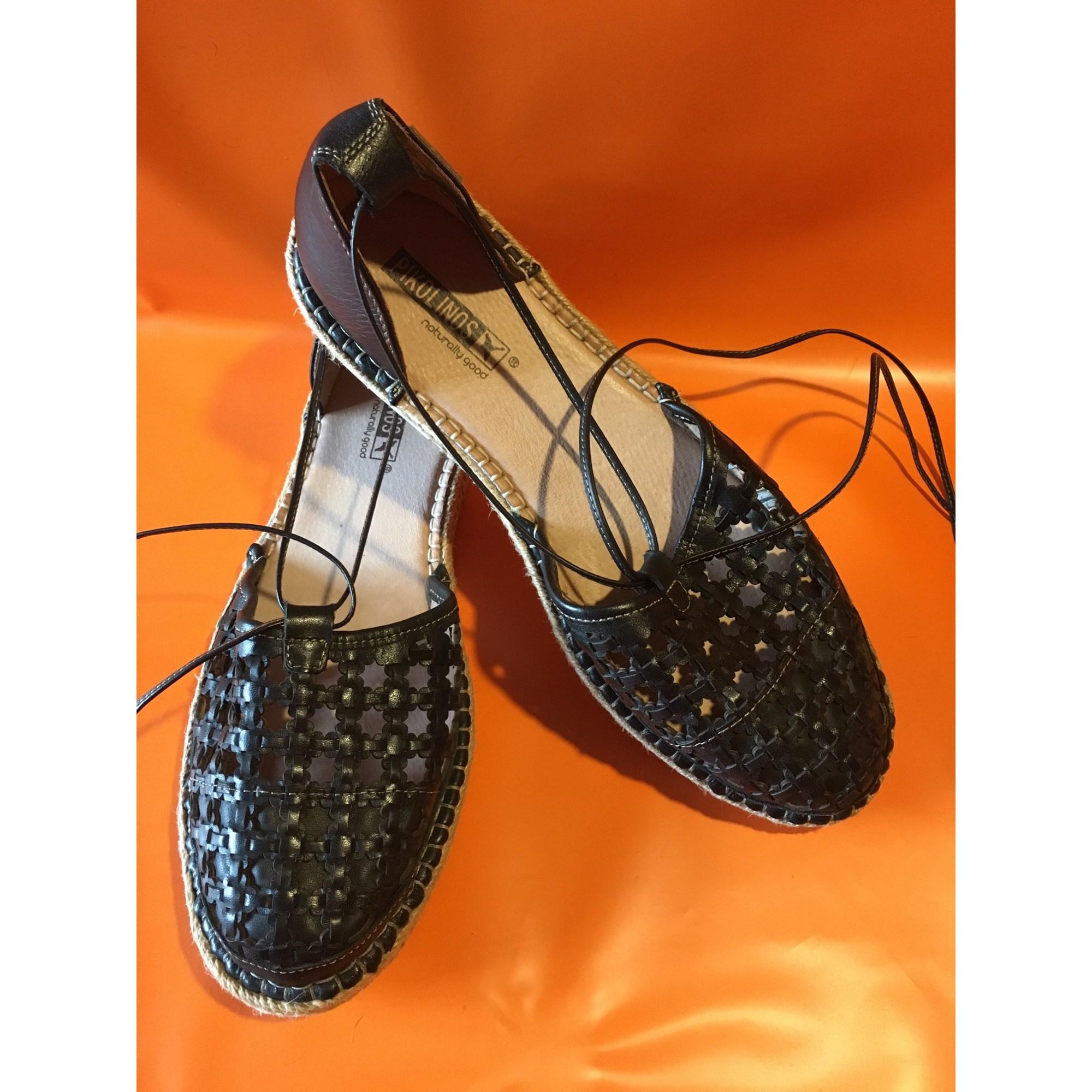 Sandales plates  PIKOLINOS Noir