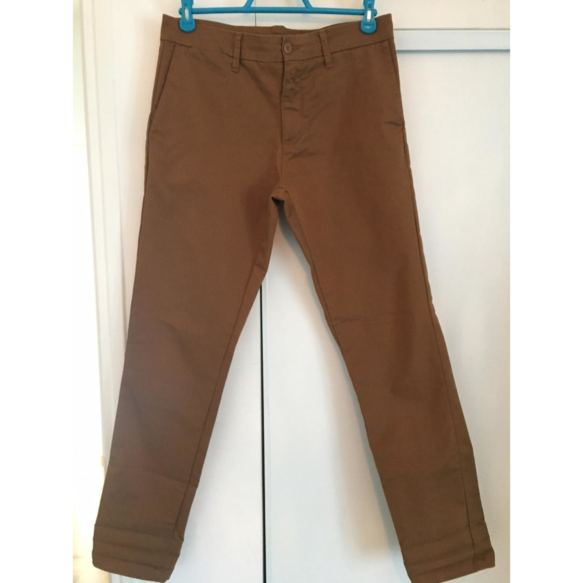 Pantalon droit CARHARTT Marron