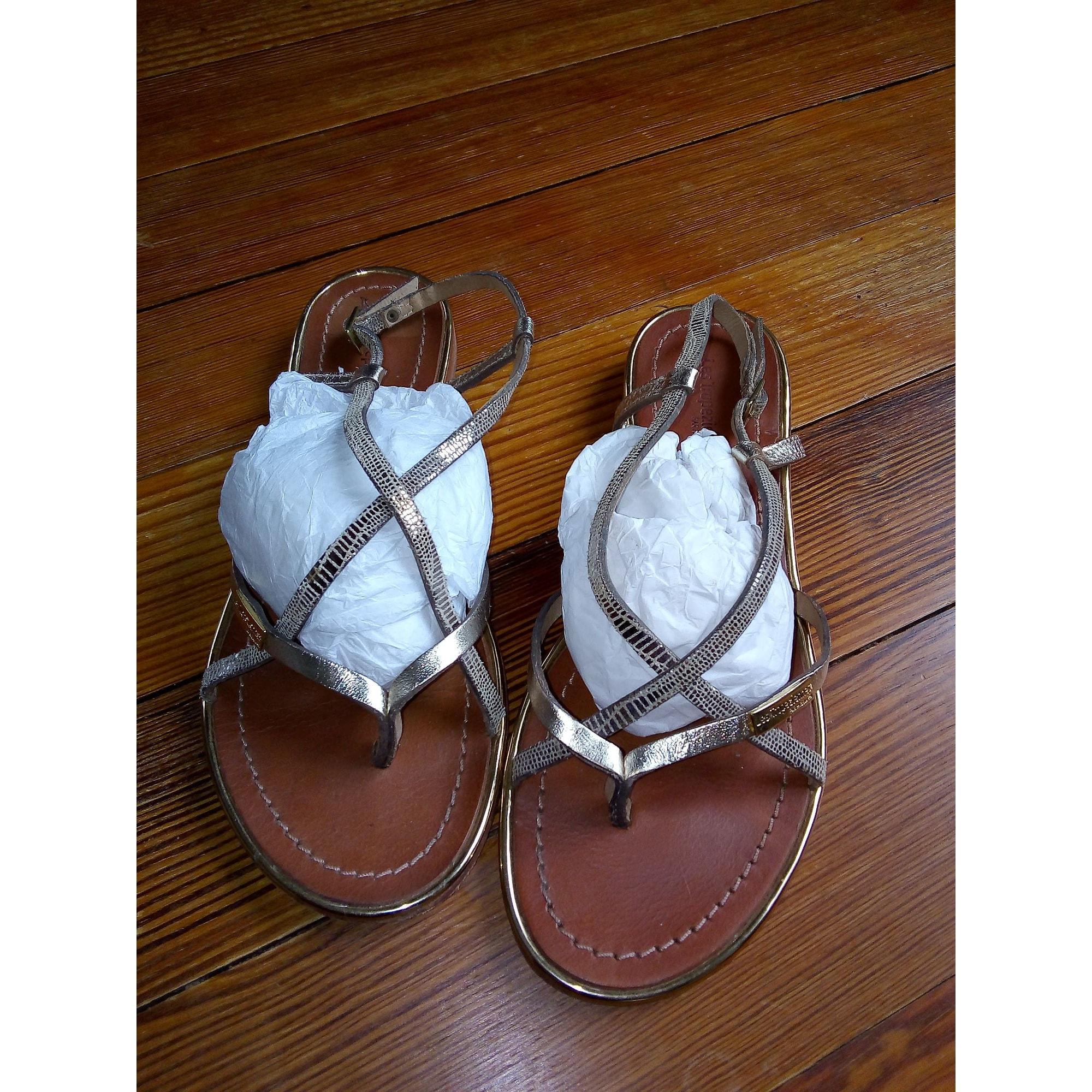Sandales plates  LES TROPÉZIENNES PAR M. BELARBI Doré, bronze, cuivre