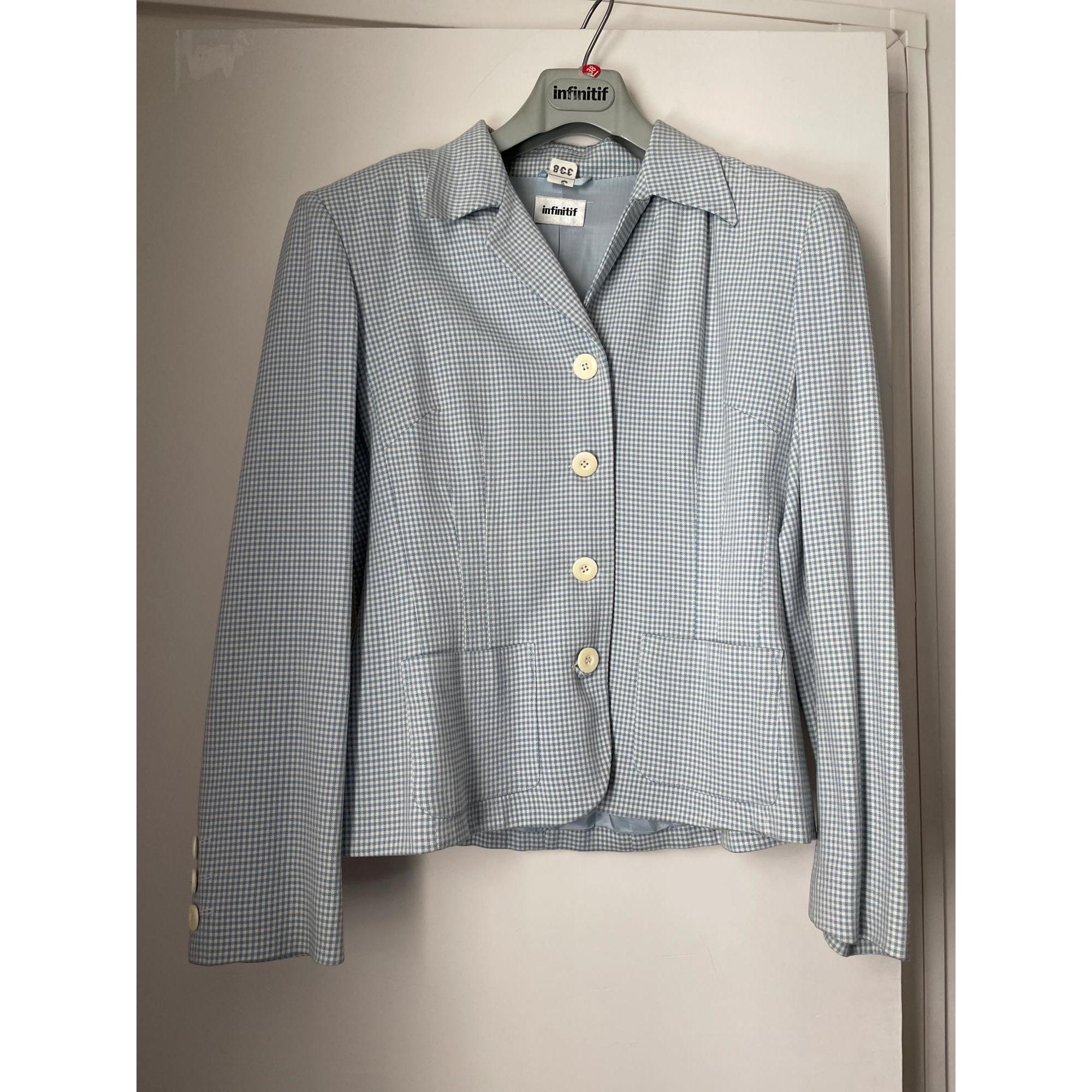 Tailleur jupe INFINITIF Bleu, bleu marine, bleu turquoise