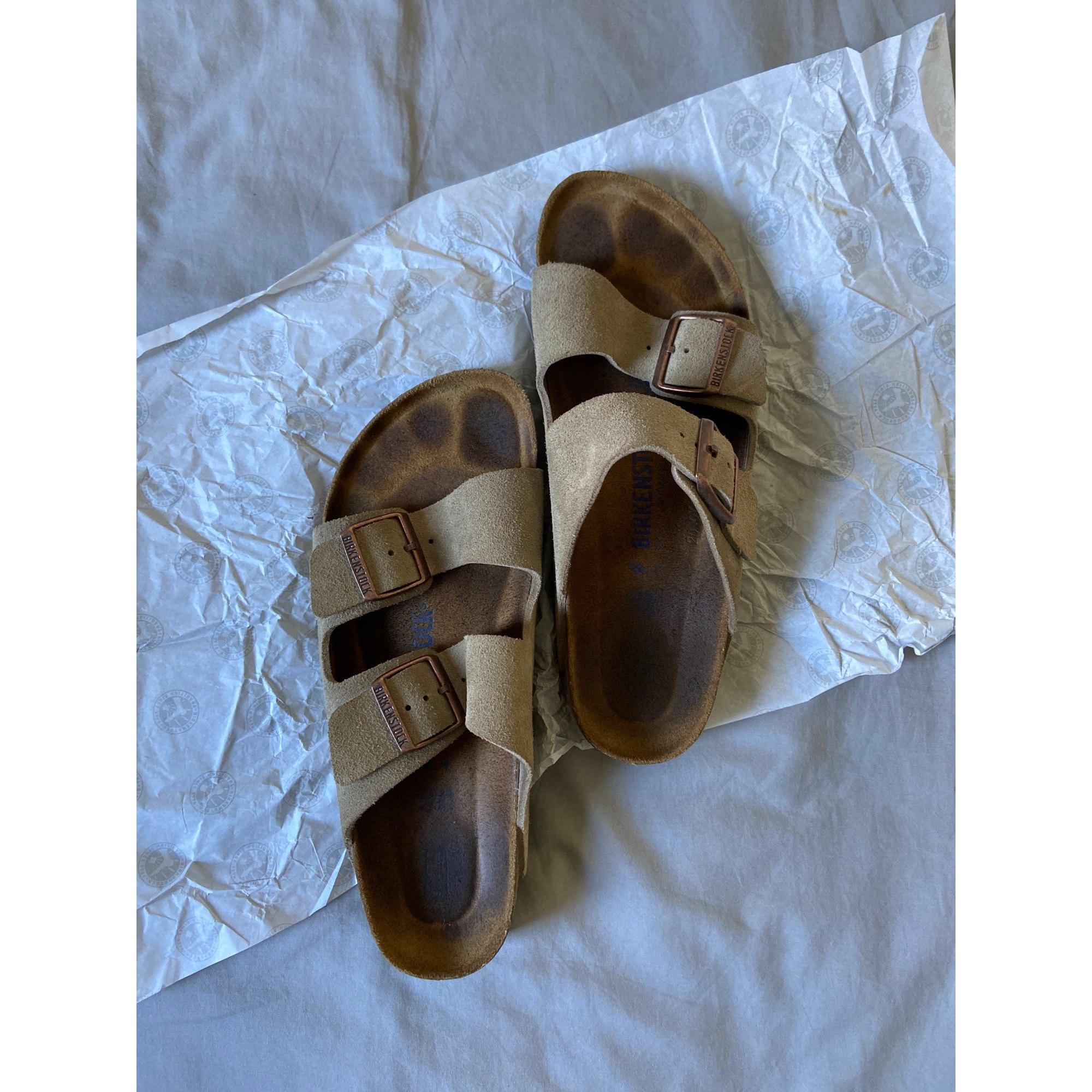 Sandals BIRKENSTOCK Beige, camel