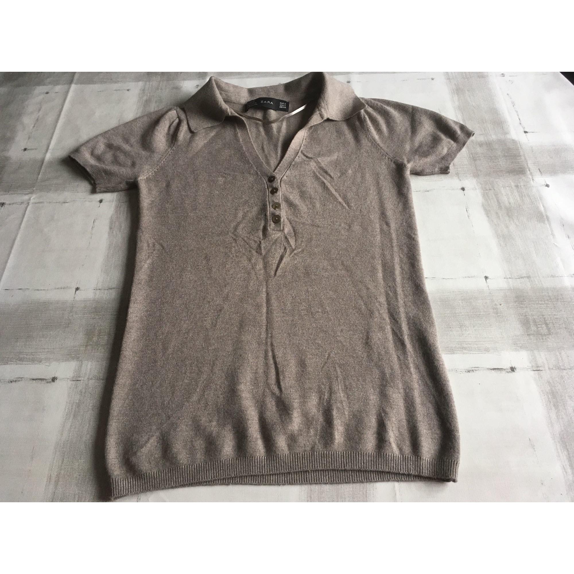 Top, tee-shirt ZARA Marron