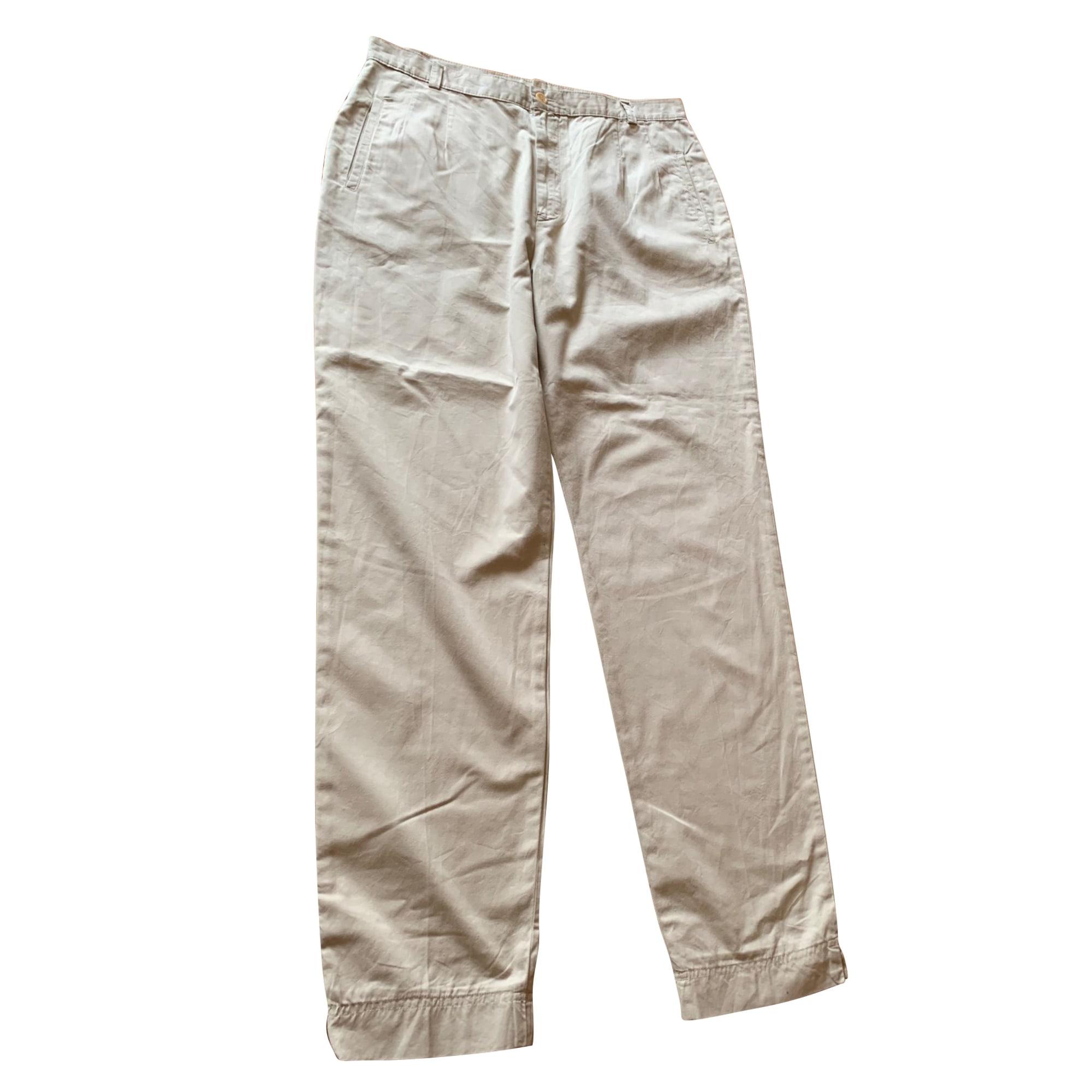 Pantalon droit ARMAND VENTILO Beige, camel