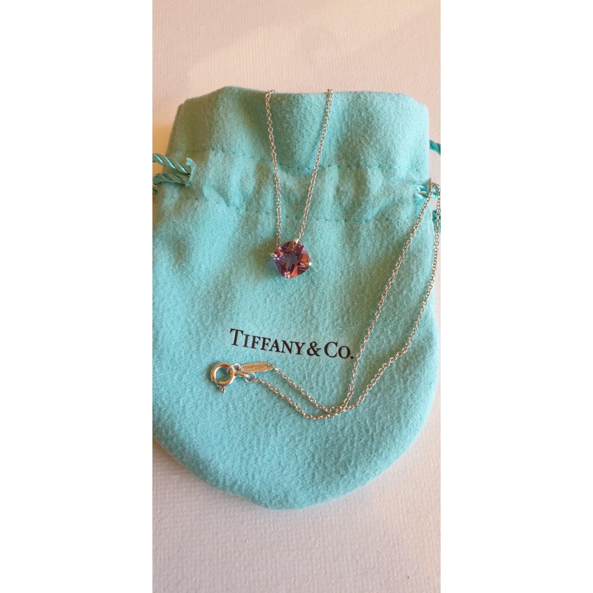 Ciondolo, collana con ciondoli TIFFANY & CO. Viola, lilla, lavanda