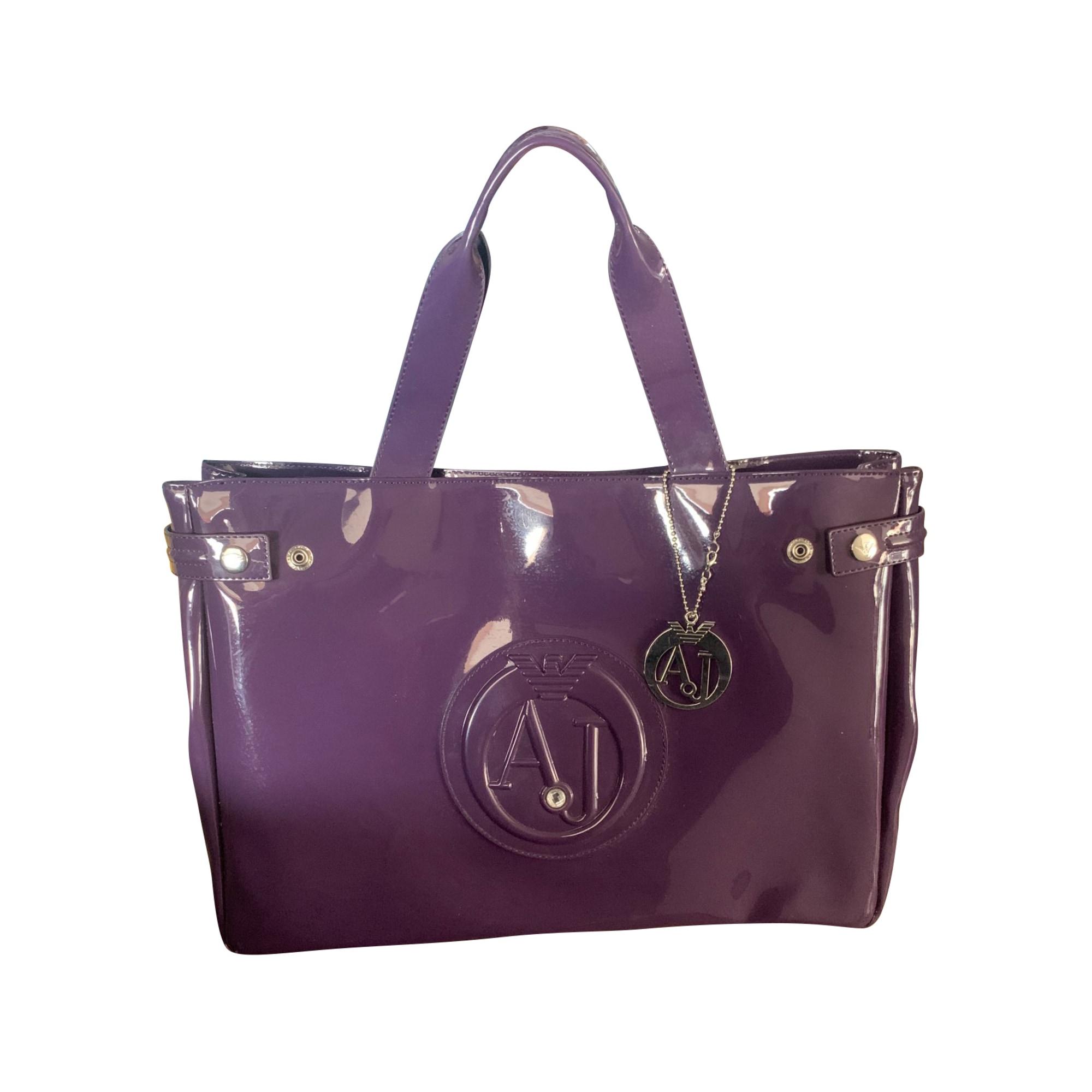 Lederhandtasche ARMANI JEANS Violett, malvenfarben, lavendelfarben