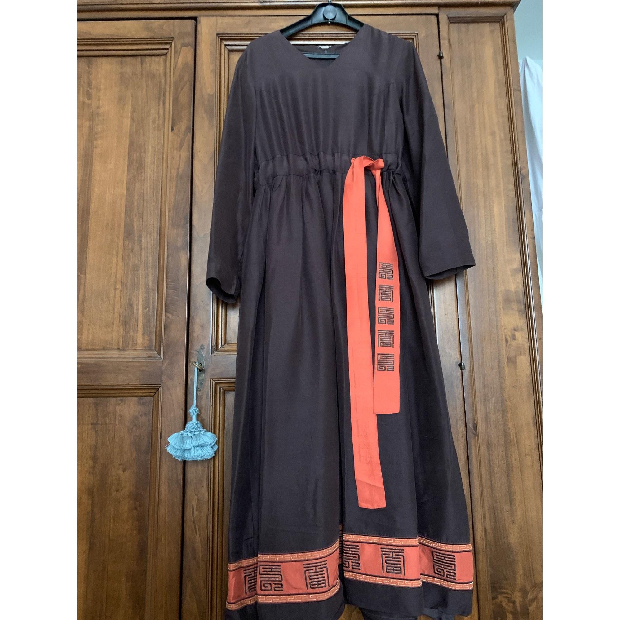 Robe longue KENZO Marron