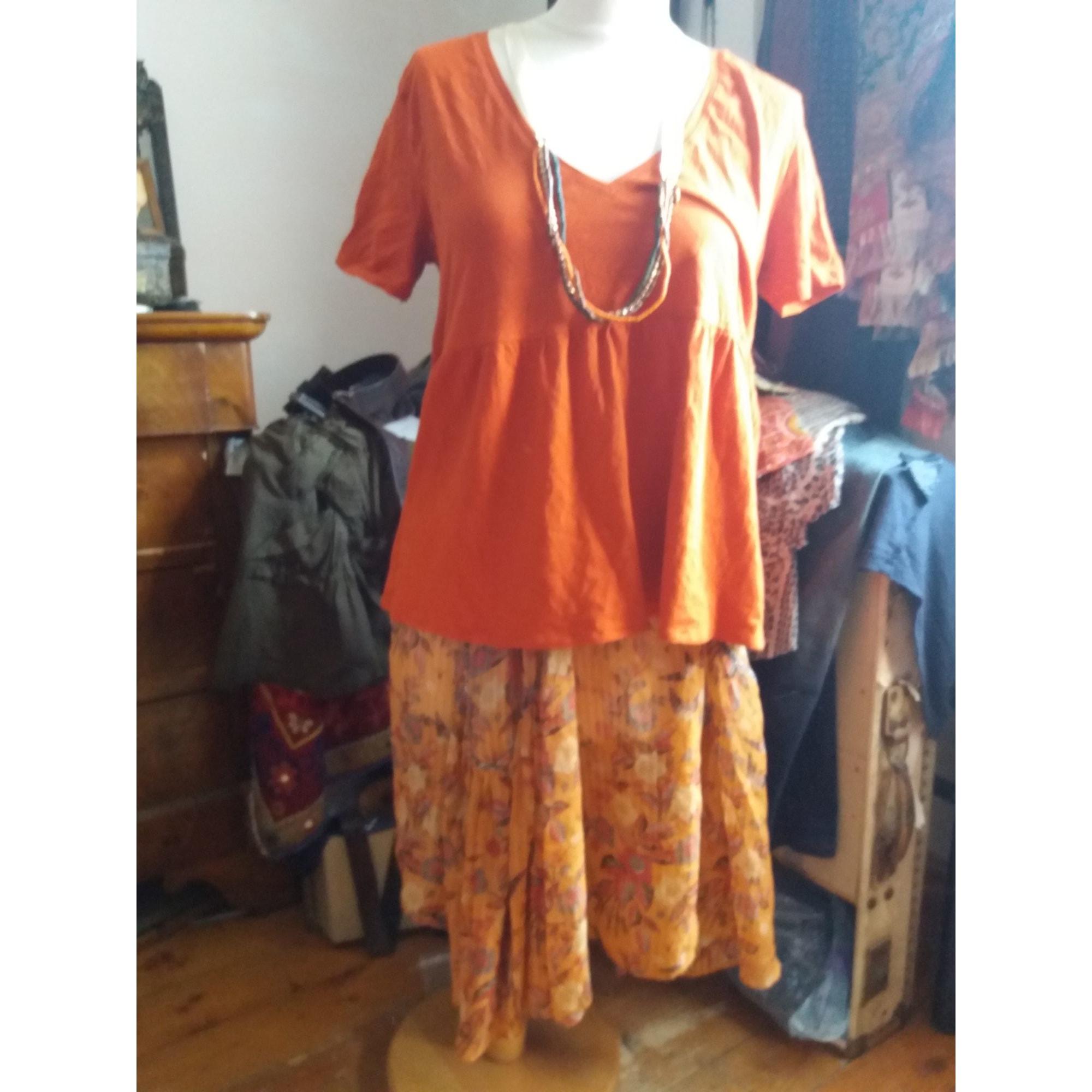Jupe courte ISABEL MARANT Orange