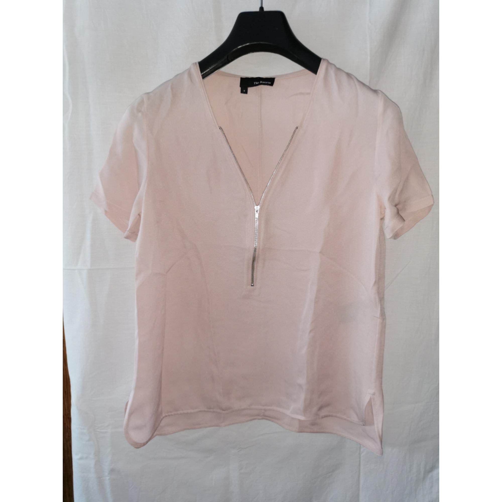 Top, tee-shirt THE KOOPLES Rose, fuschia, vieux rose