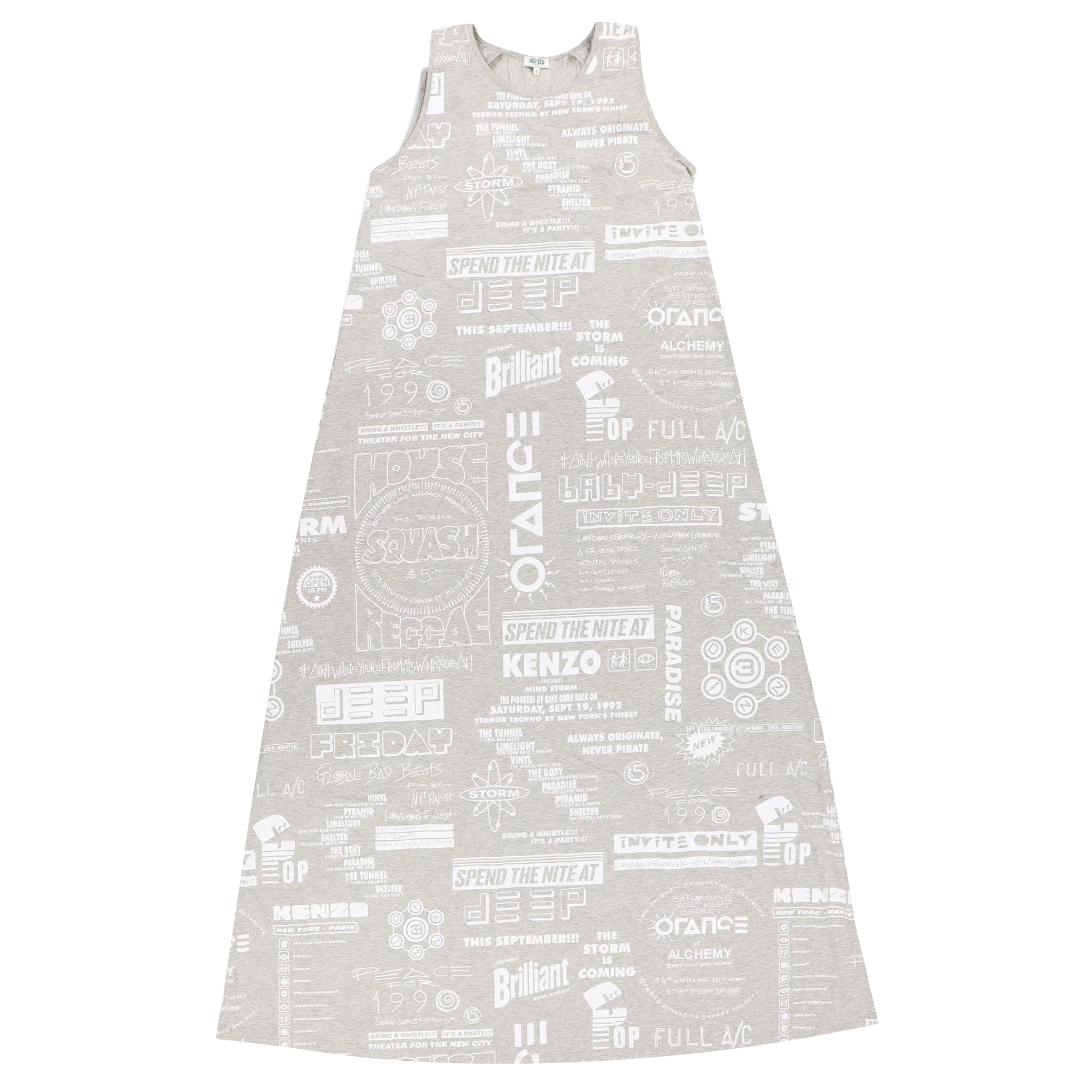 Robe longue KENZO Gris, anthracite