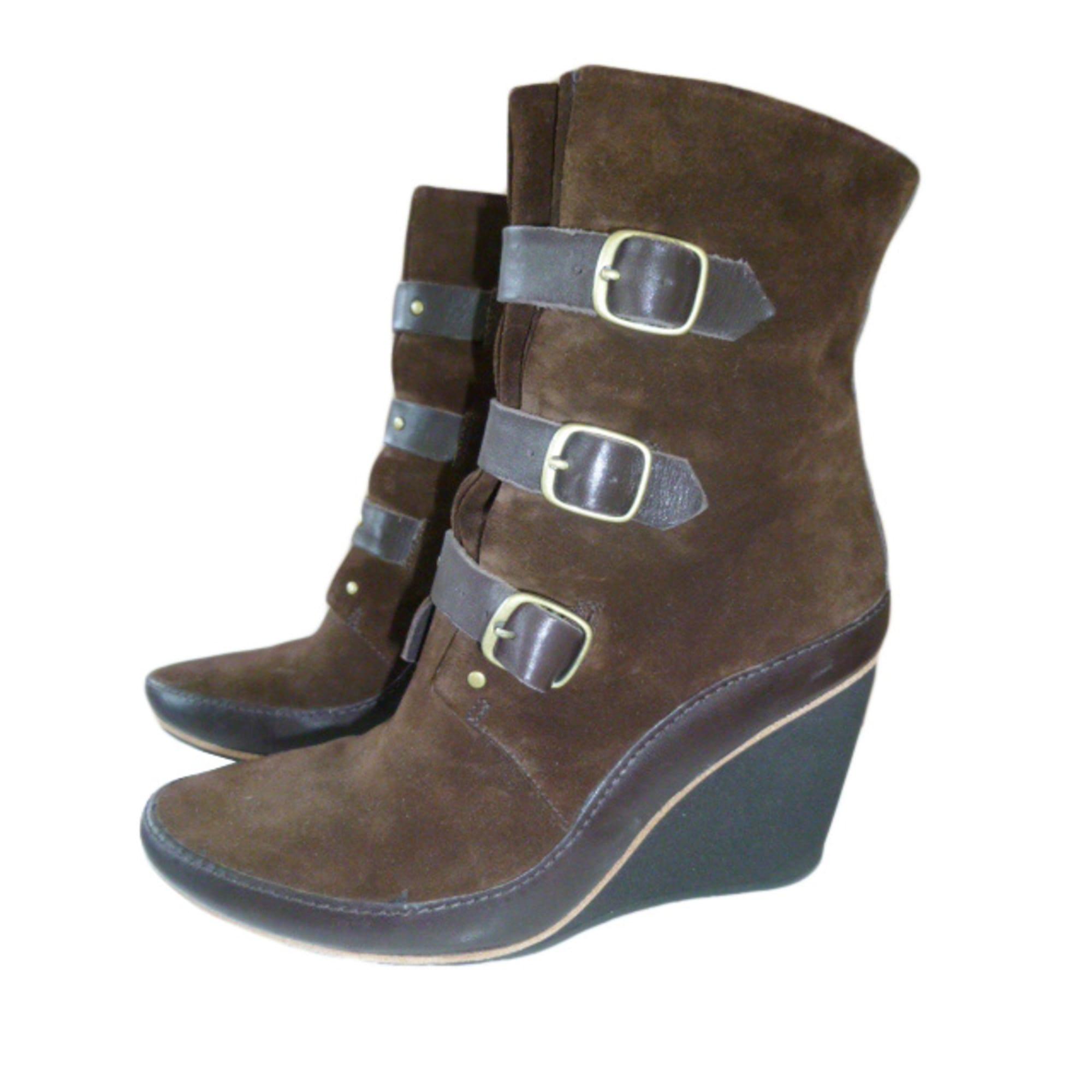 Bottines & low boots à compensés CAMPER Marron