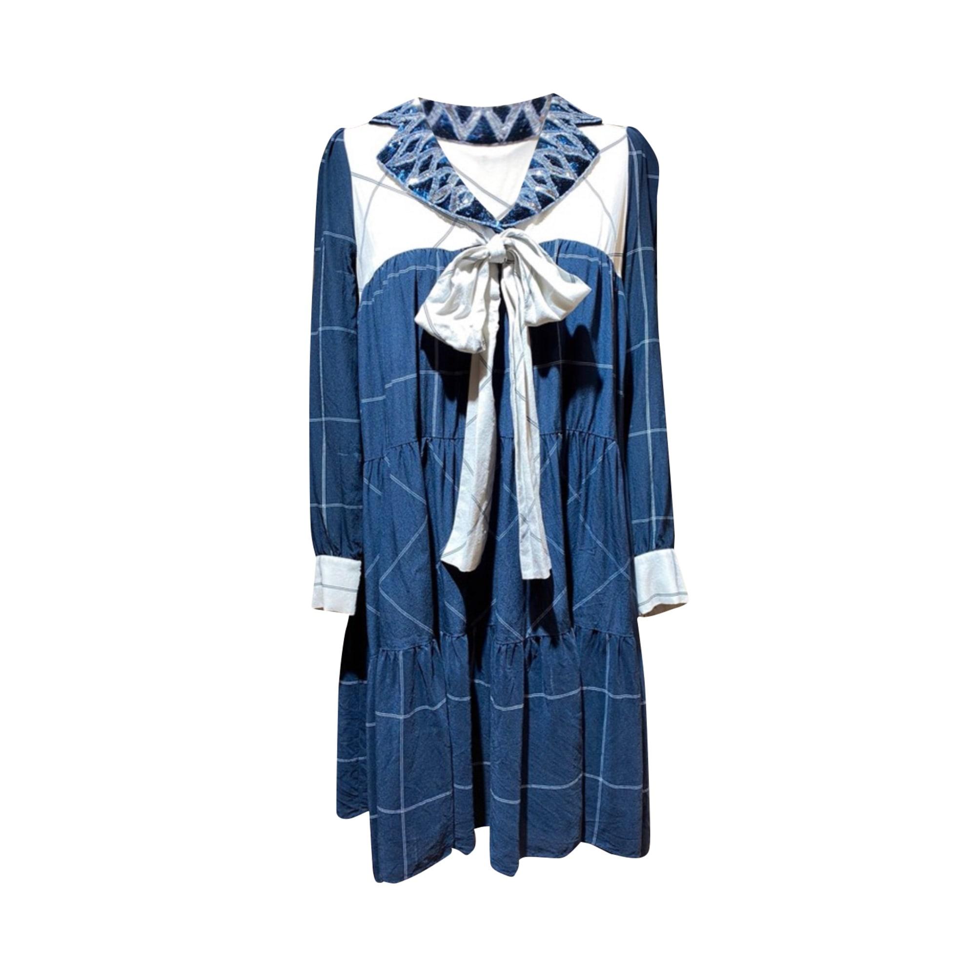 Robe mi-longue MANOUSH Bleu, bleu marine, bleu turquoise