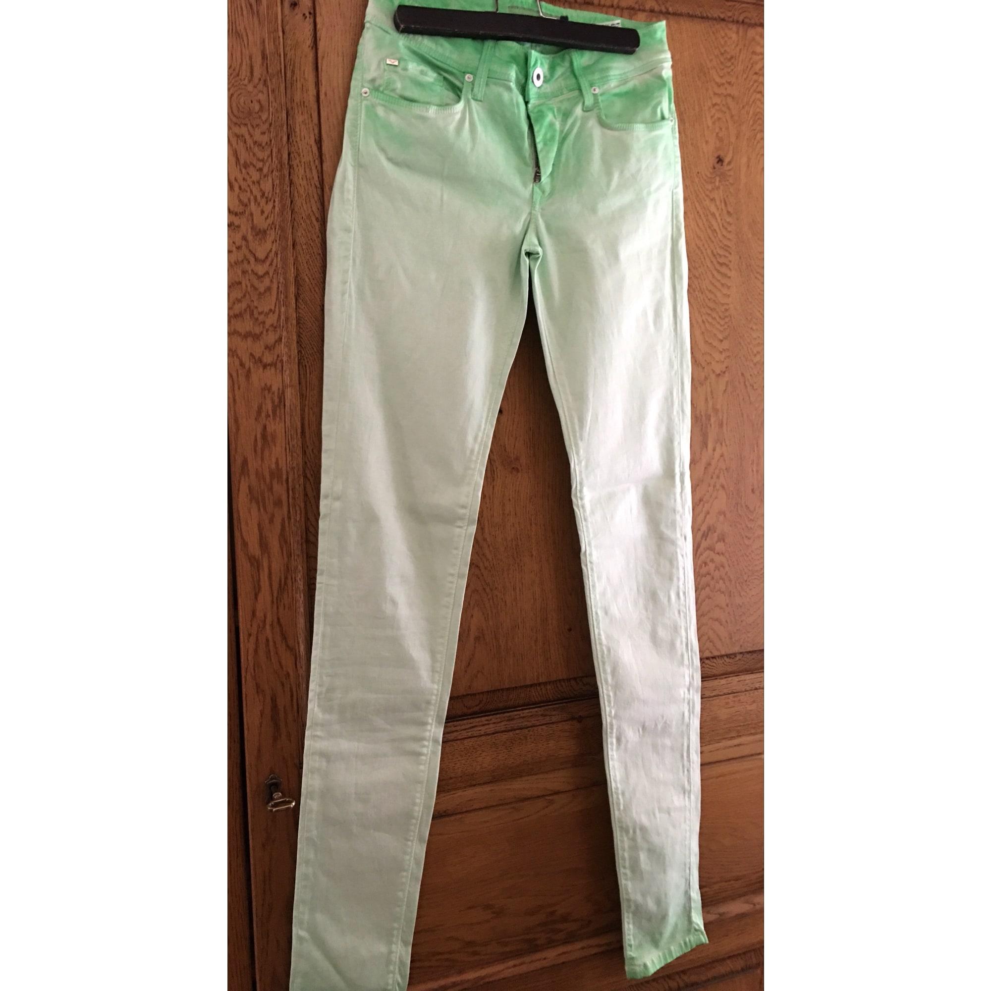 Pantalon slim, cigarette SALSA Vert