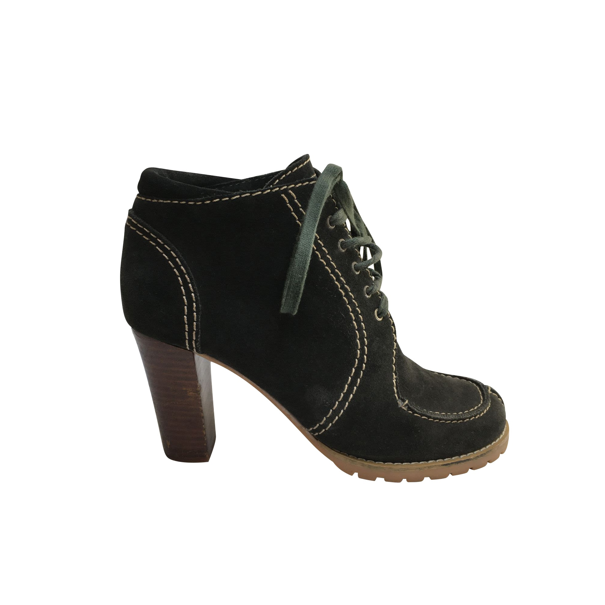 Bottines & low boots à talons SEE BY CHLOE Gris, anthracite