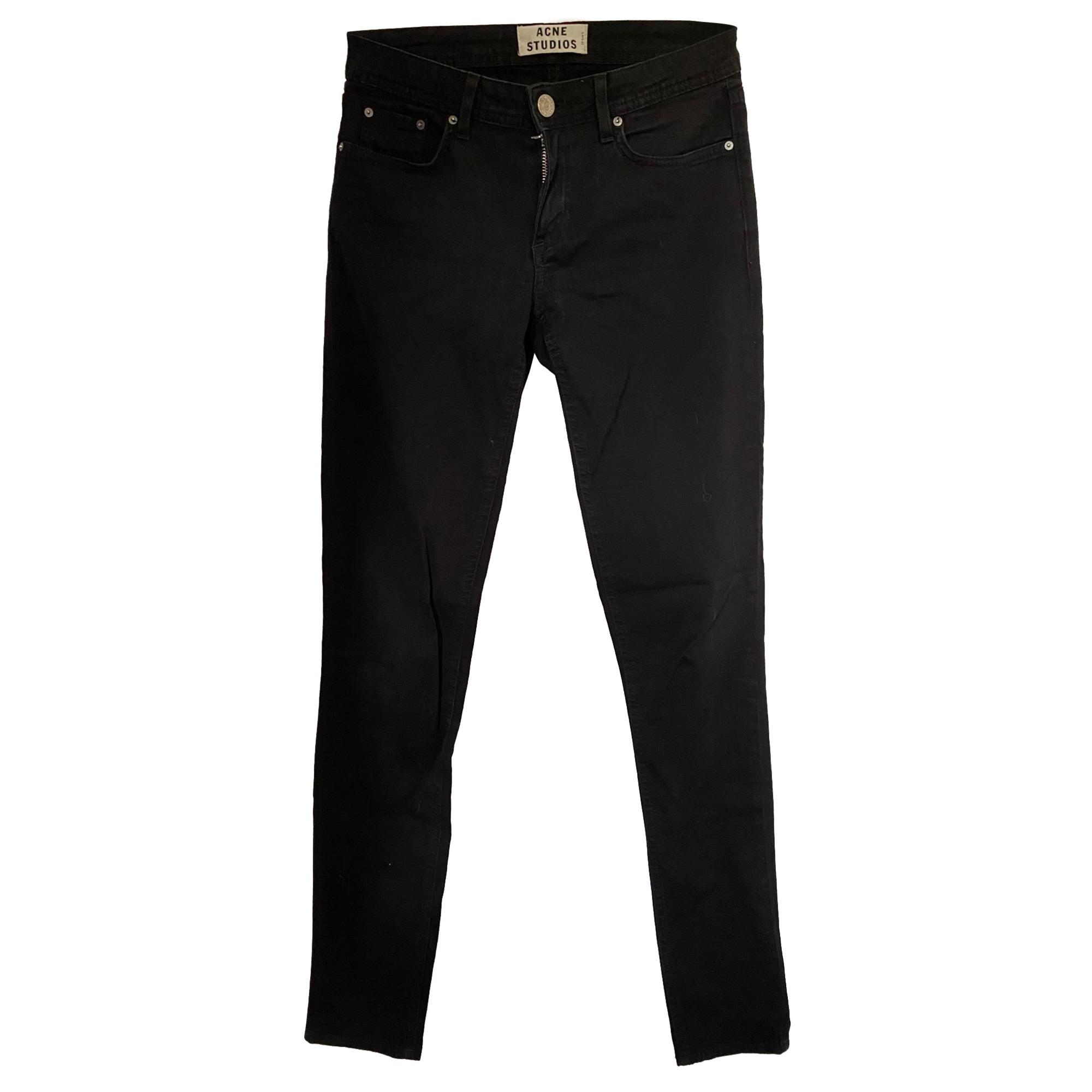 Pantalon slim, cigarette ACNE Noir