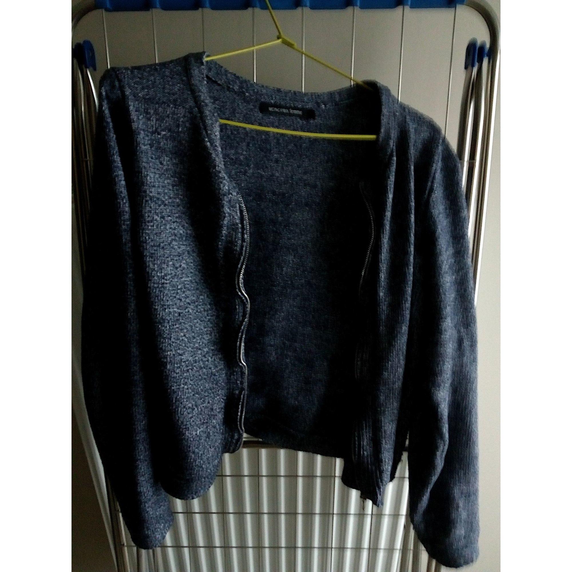 Gilet, cardigan AUTRE TON Bleu, bleu marine, bleu turquoise