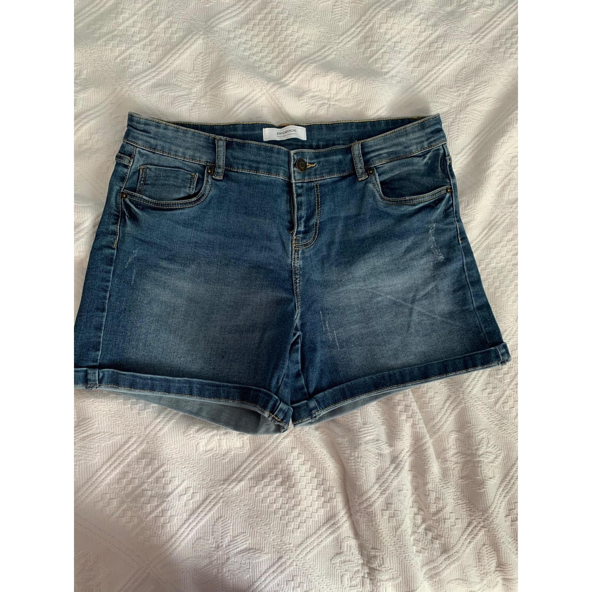 Short en jean CAMAIEU Bleu, bleu marine, bleu turquoise