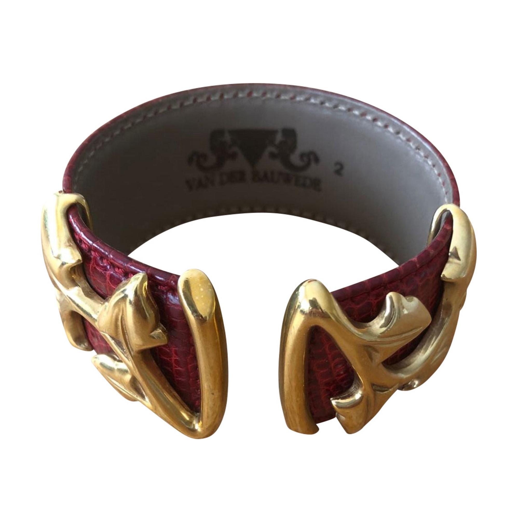 Bracelet VAN DER BAUWEDE Rouge, bordeaux