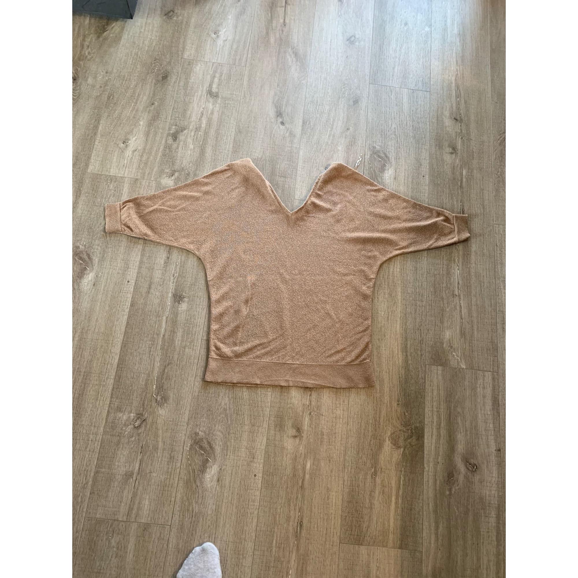 Top, tee-shirt CAMAIEU Beige, camel