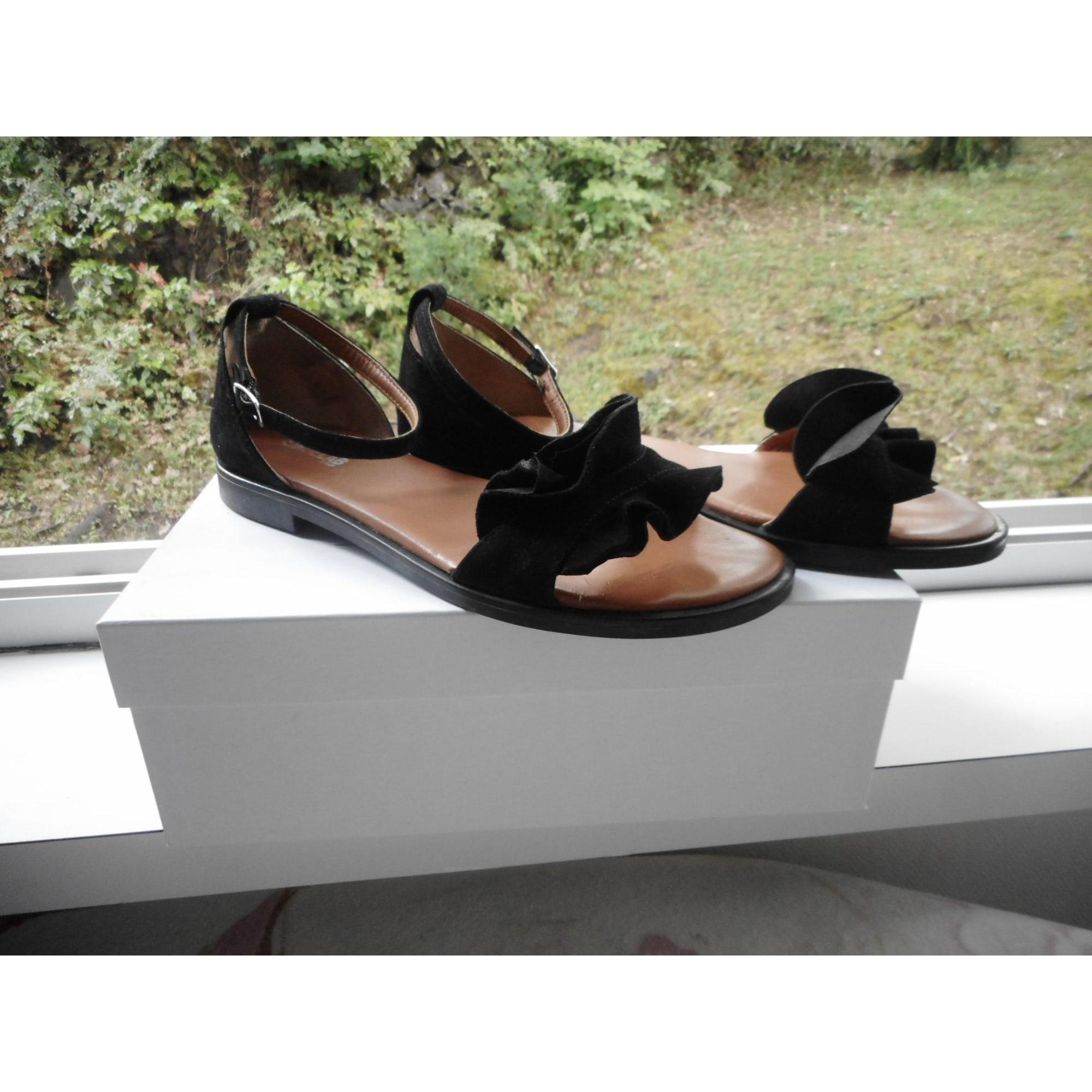 Sandales plates  SHOELABGROUP Noir