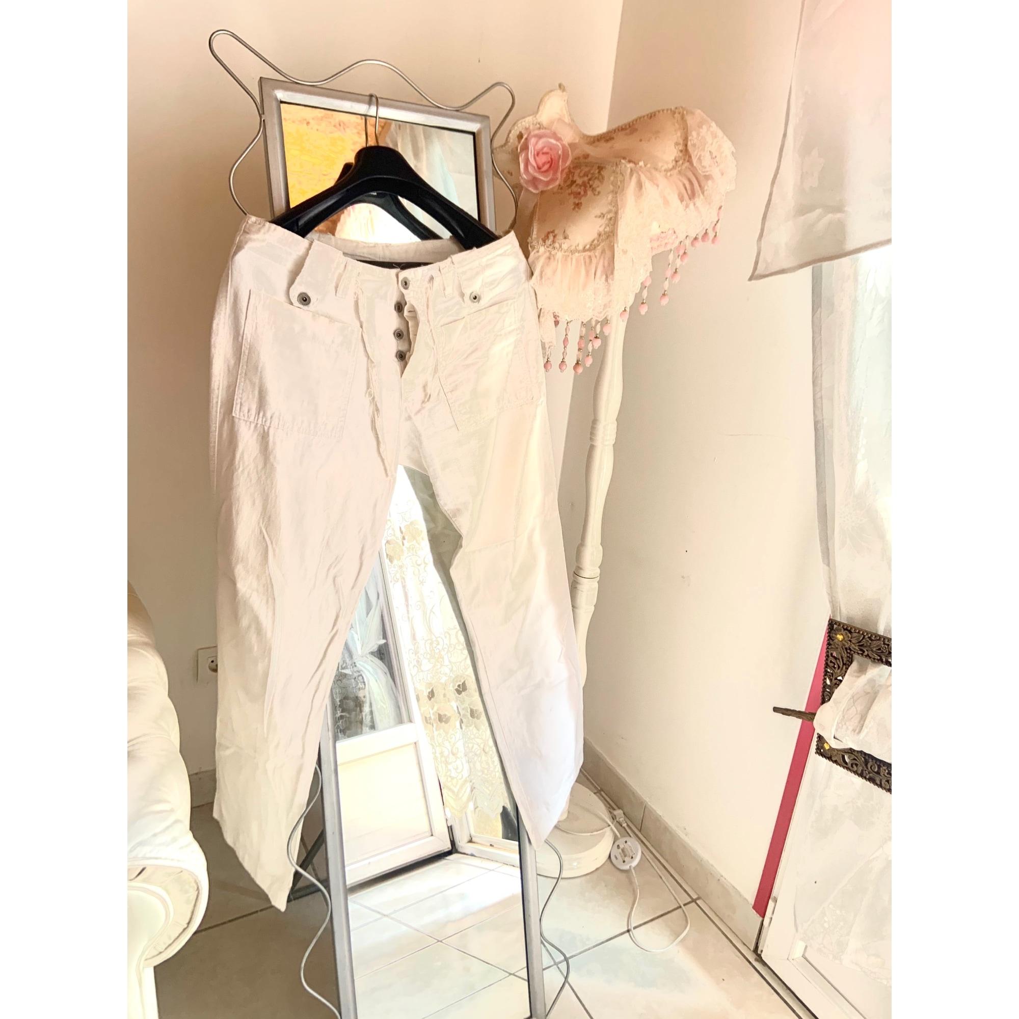Pantalon droit MC LEM Blanc, blanc cassé, écru