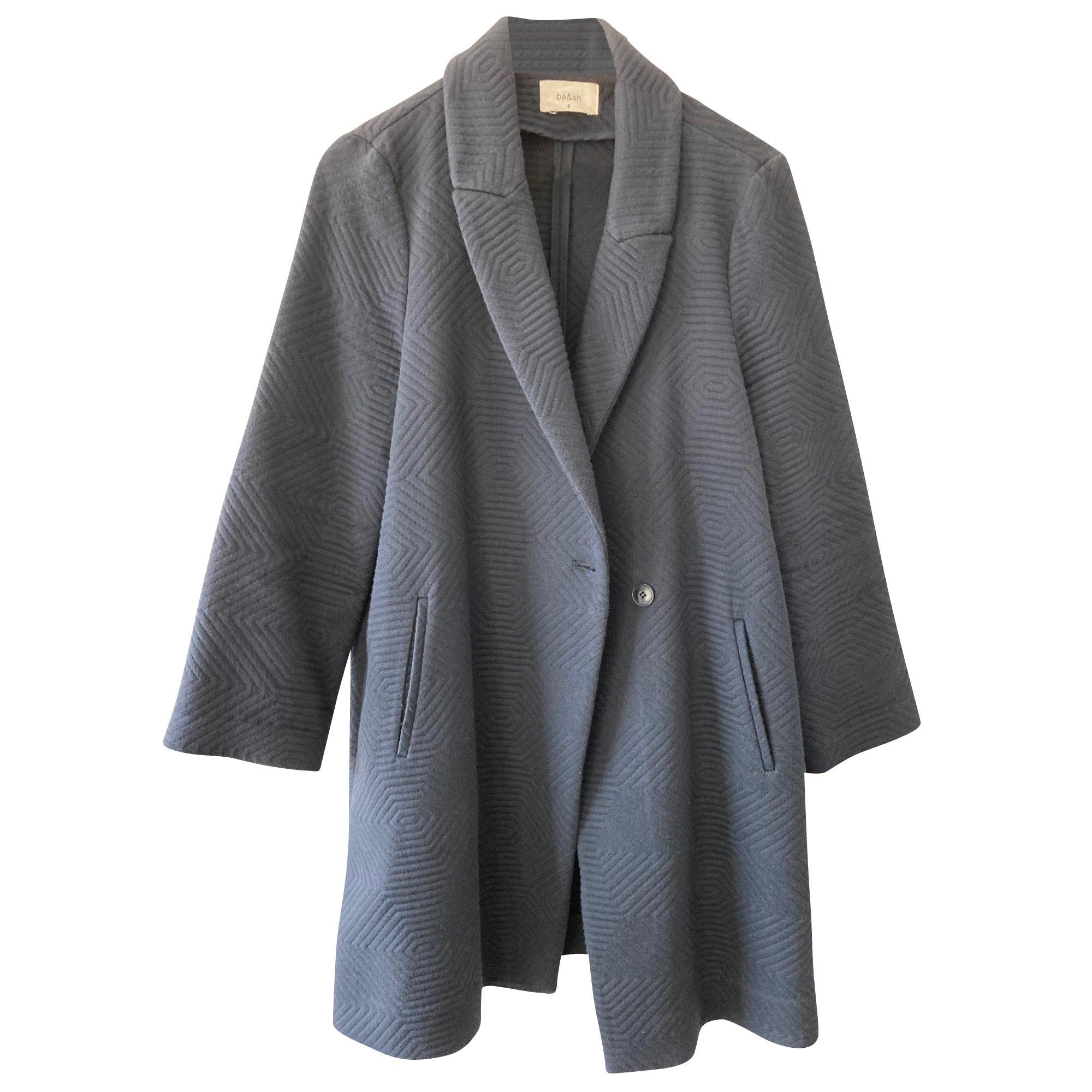 Manteau BA&SH Bleu, bleu marine, bleu turquoise