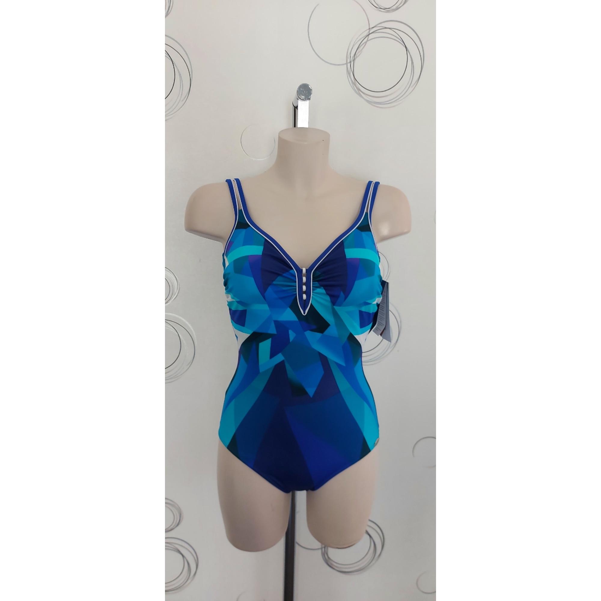 Maillot de bain une-pièce PETER HAHN Bleu, bleu marine, bleu turquoise