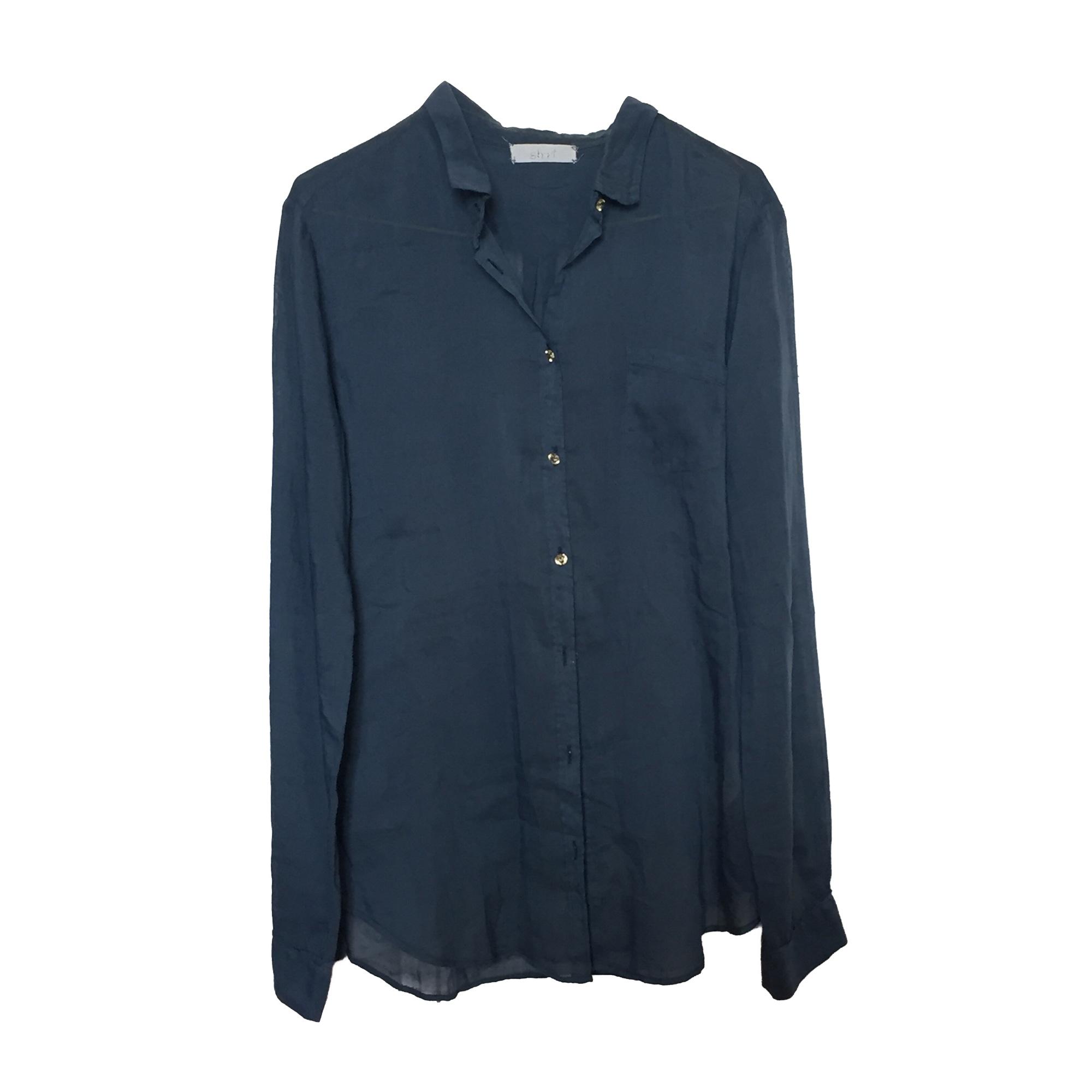 Chemise FORTE_FORTE Bleu, bleu marine, bleu turquoise