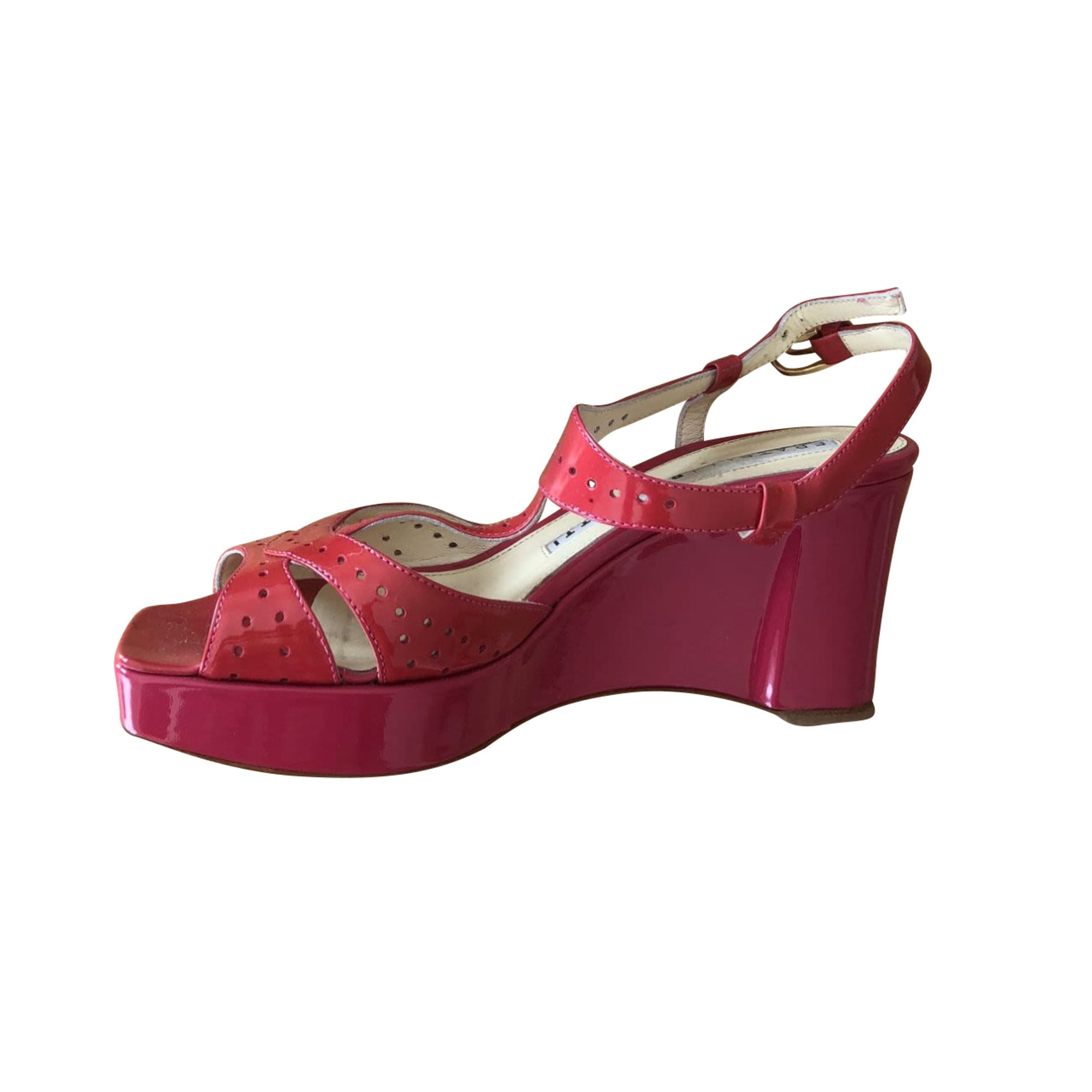 Sandales compensées FRATELLI ROSSETTI Rose, fuschia, vieux rose