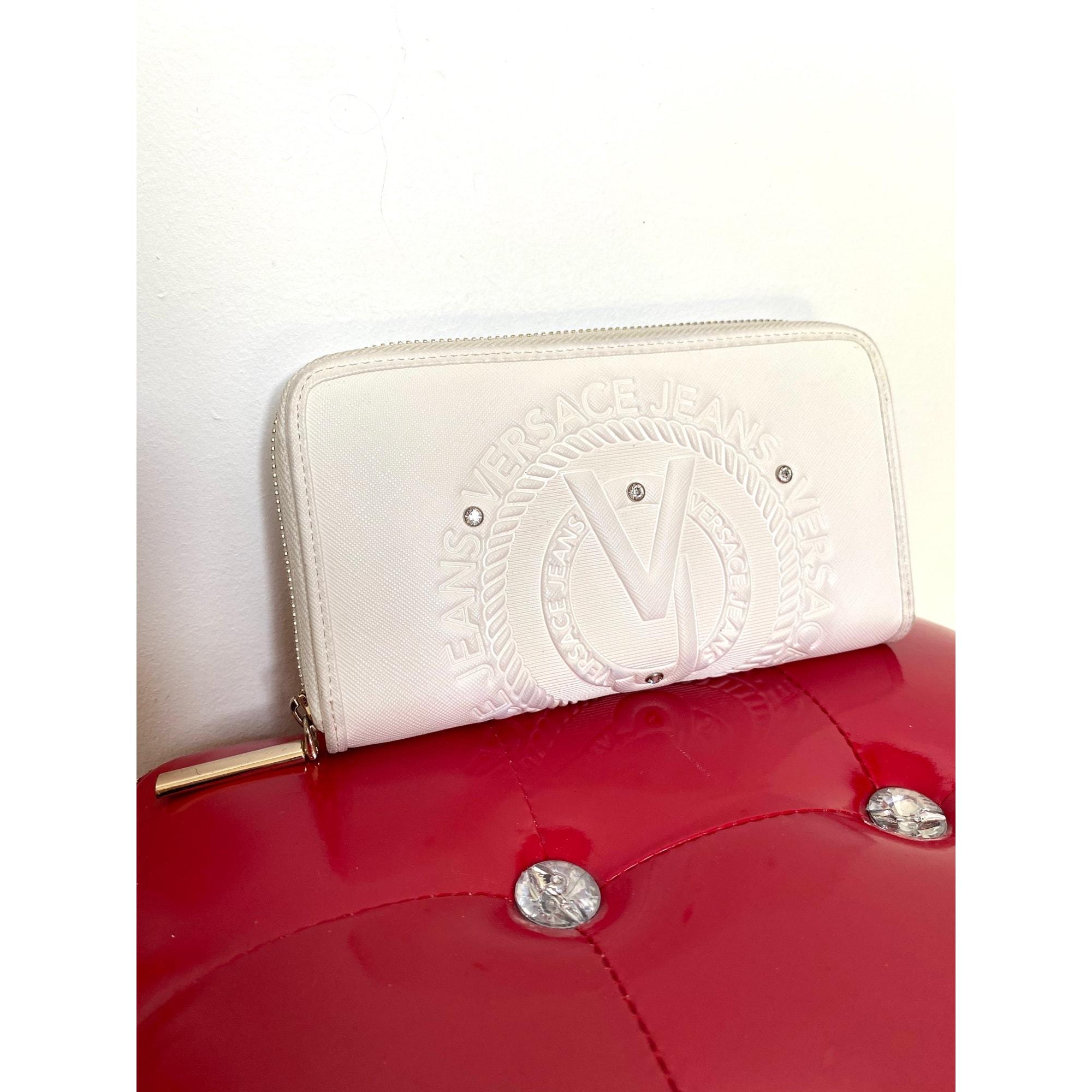 Portefeuille VERSACE Blanc, blanc cassé, écru