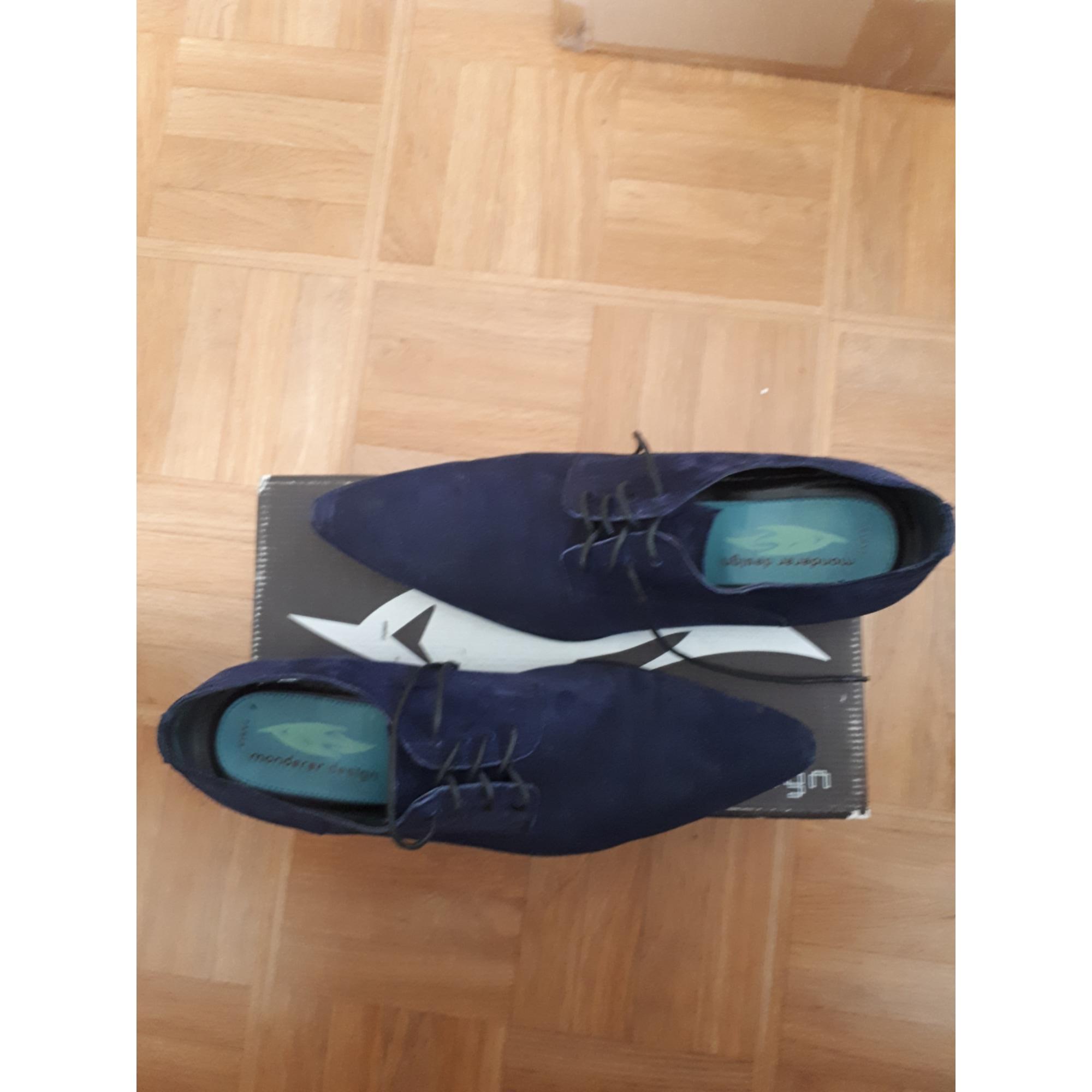 Chaussures à lacets MONDERER Bleu, bleu marine, bleu turquoise