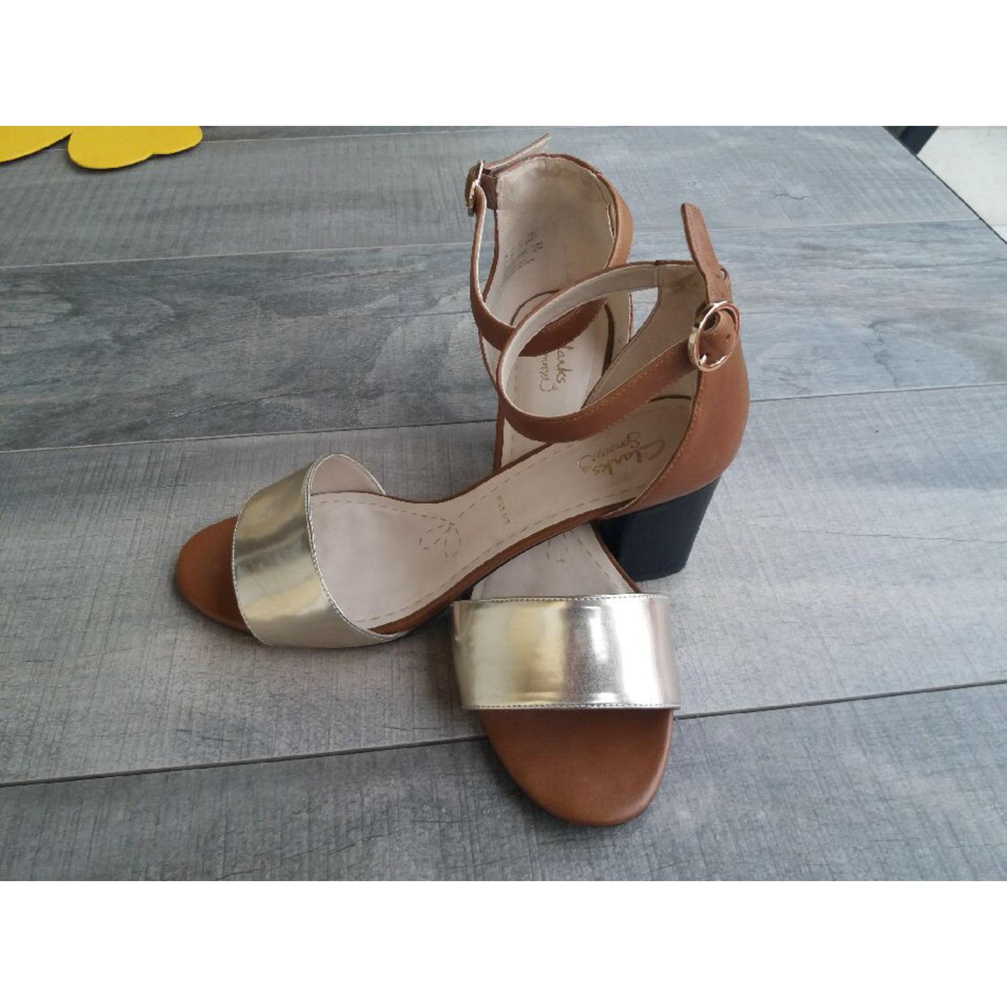 Sandales à talons CLARKS Doré, bronze, cuivre