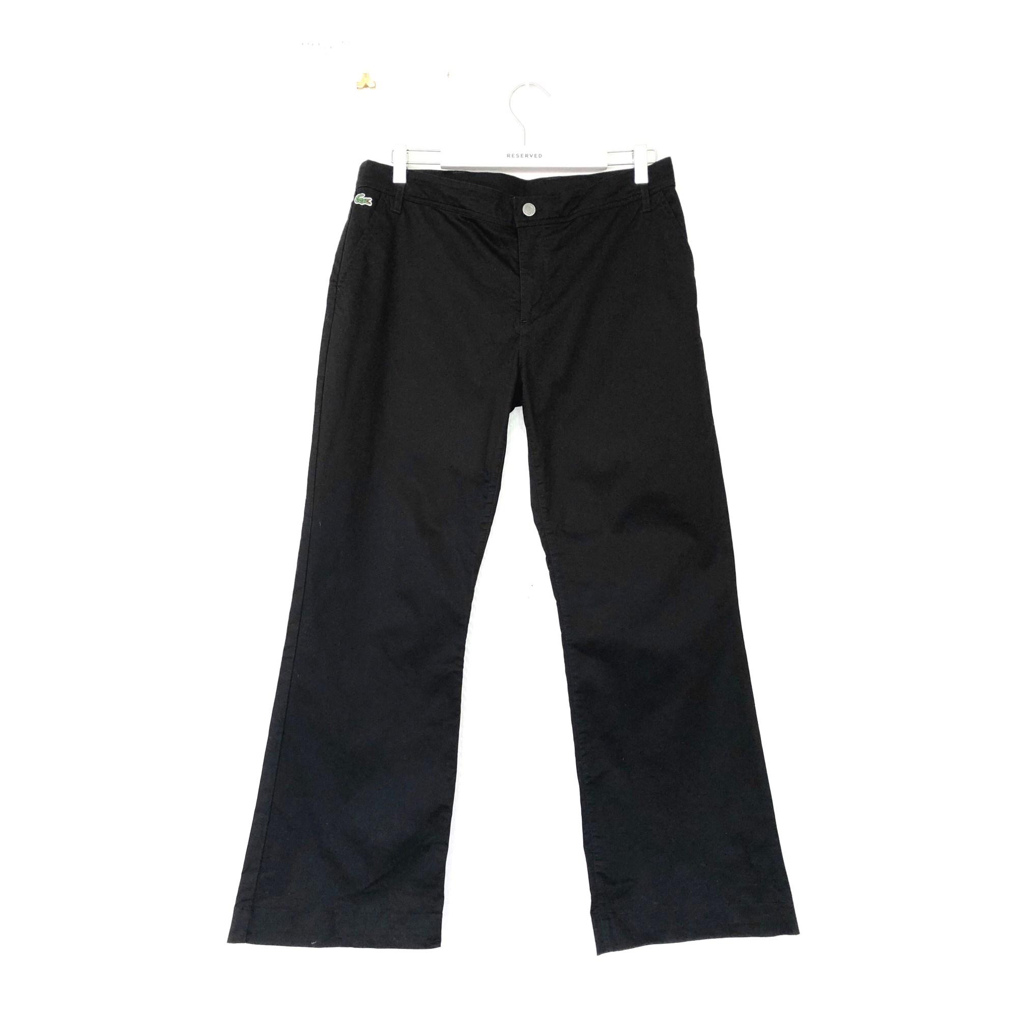 Pantalon large LACOSTE Noir